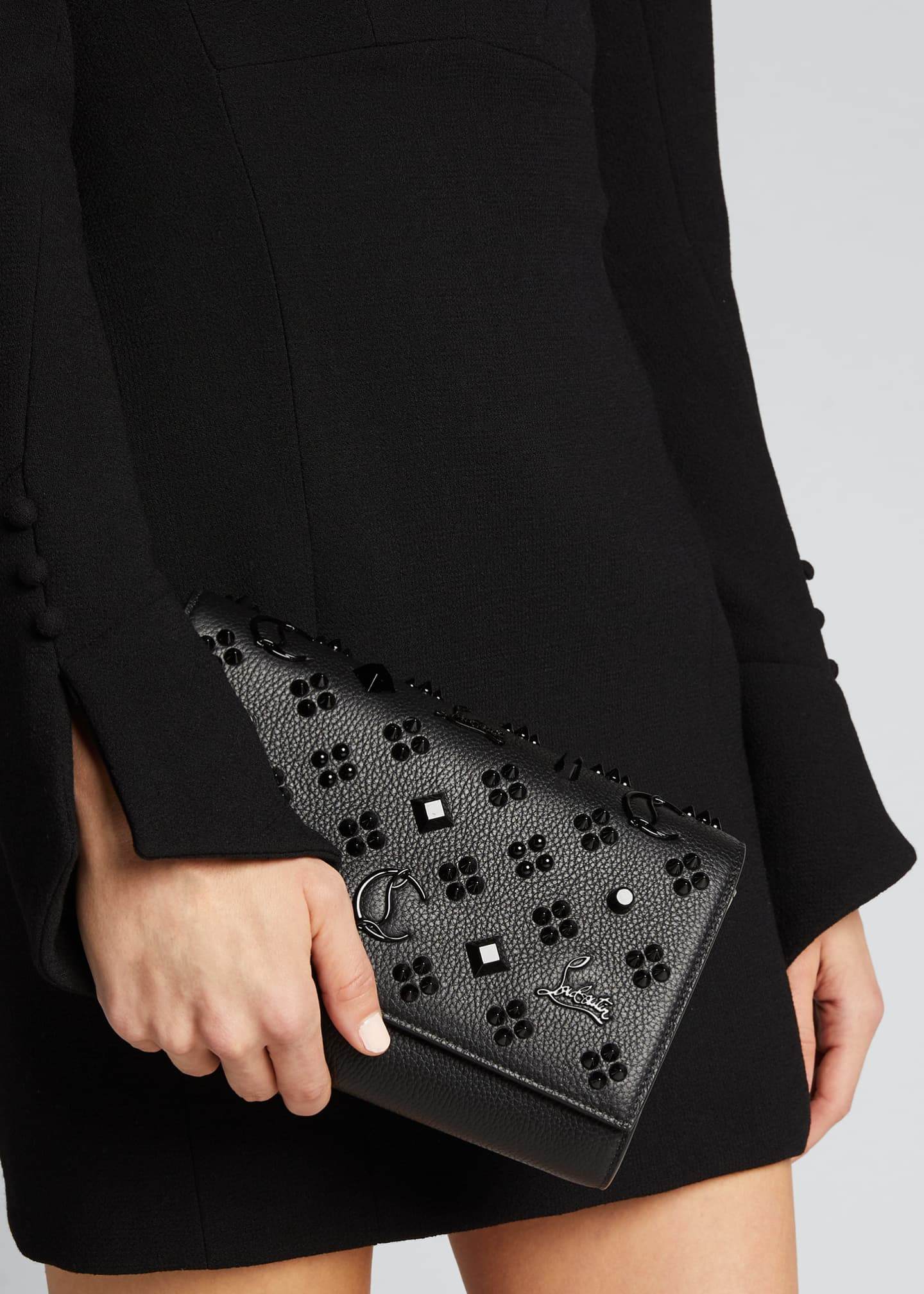 Image 2 of 3: Paloma Fold-Over Embellished Clutch Bag