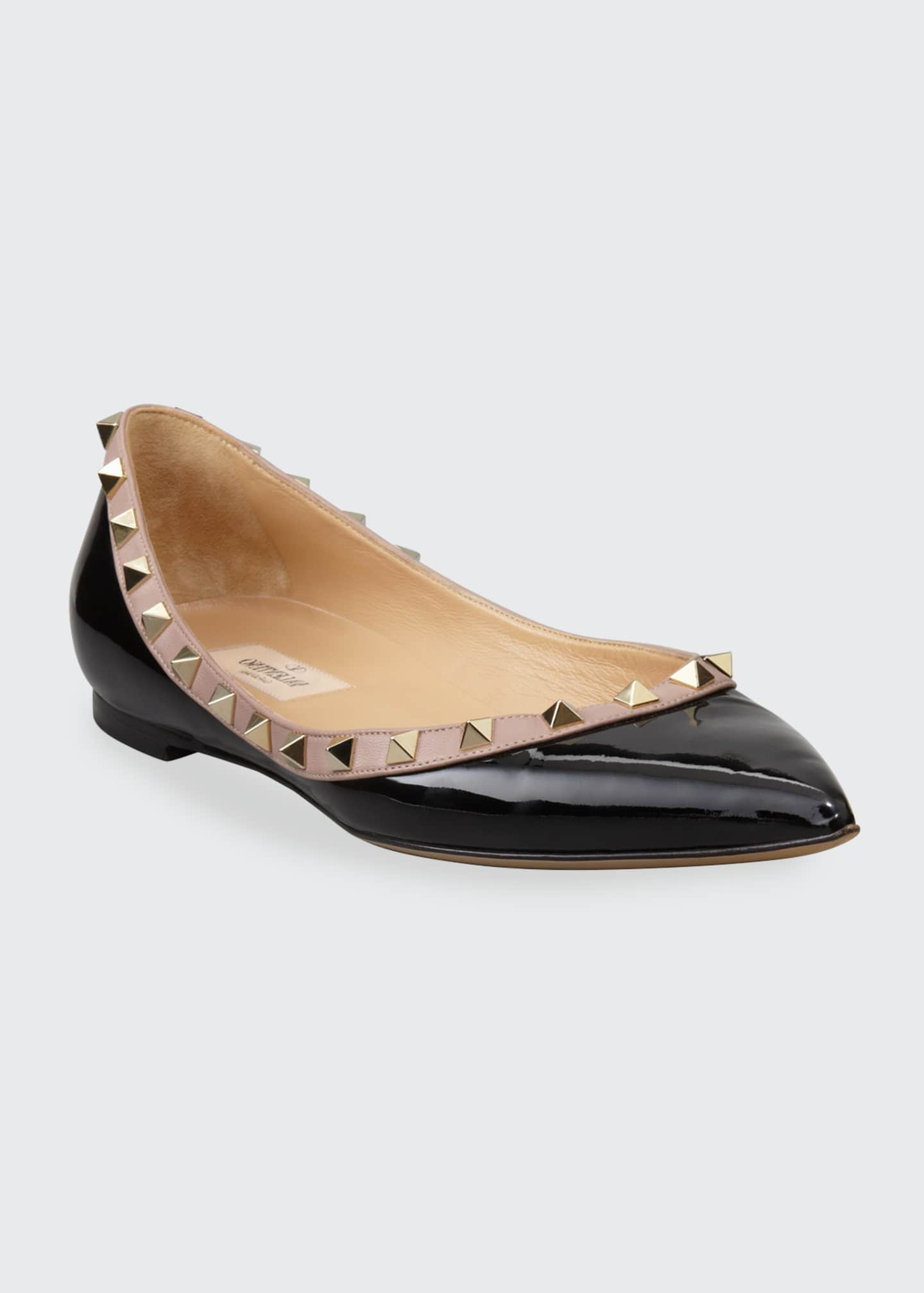 Image 2 of 4: Rockstud Patent Ballet Flats