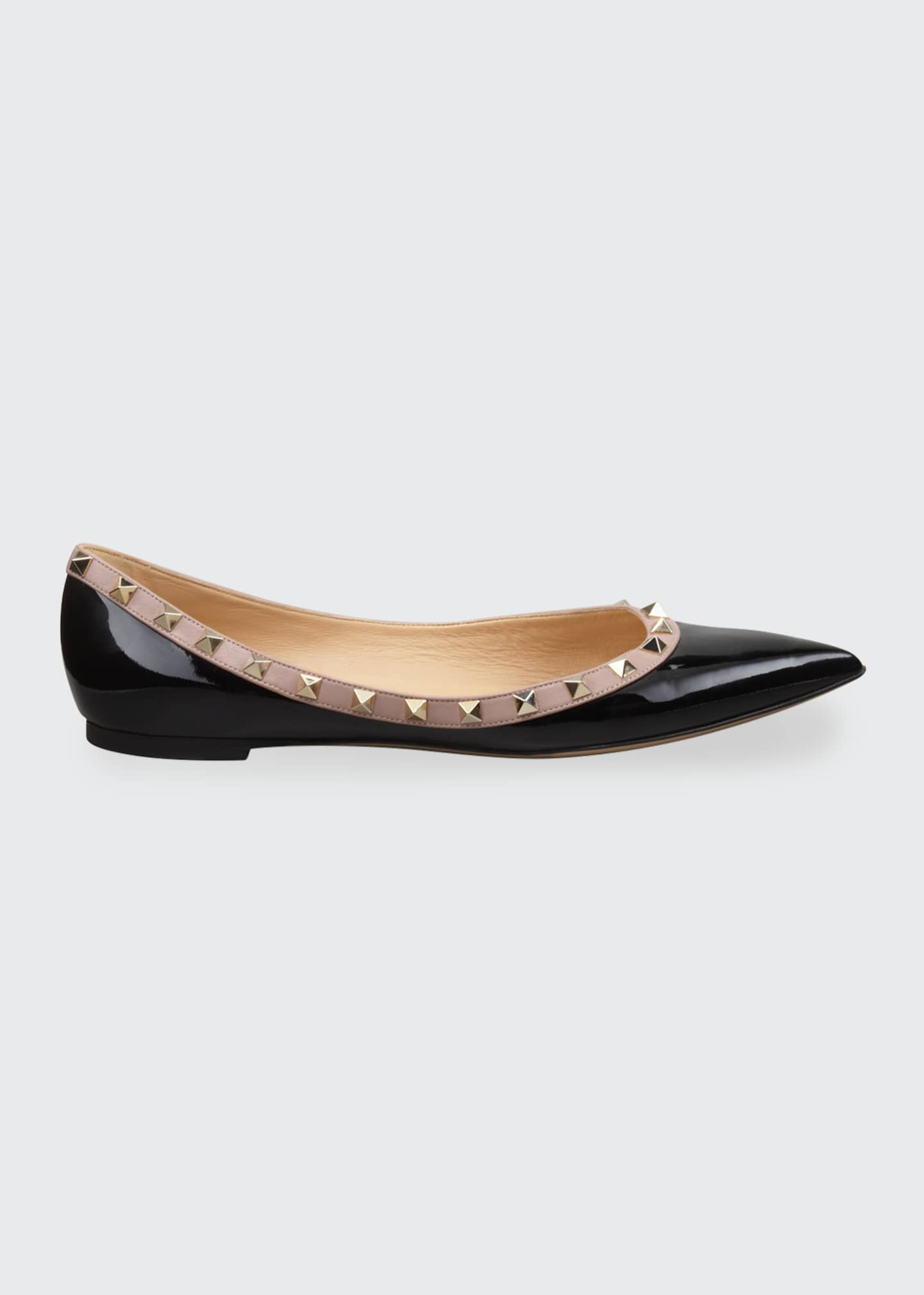 Image 1 of 4: Rockstud Patent Ballet Flats