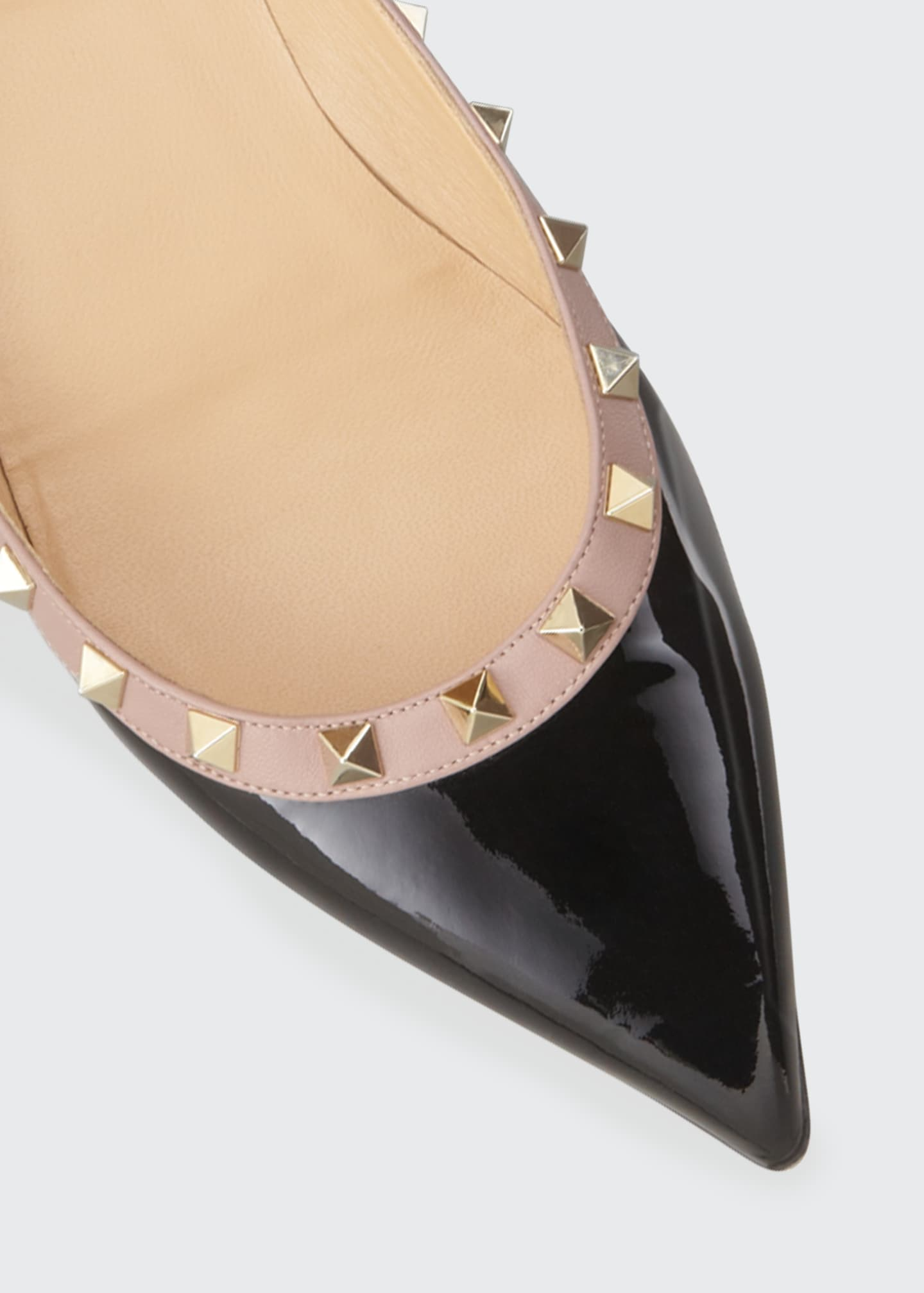 Image 4 of 4: Rockstud Patent Ballet Flats