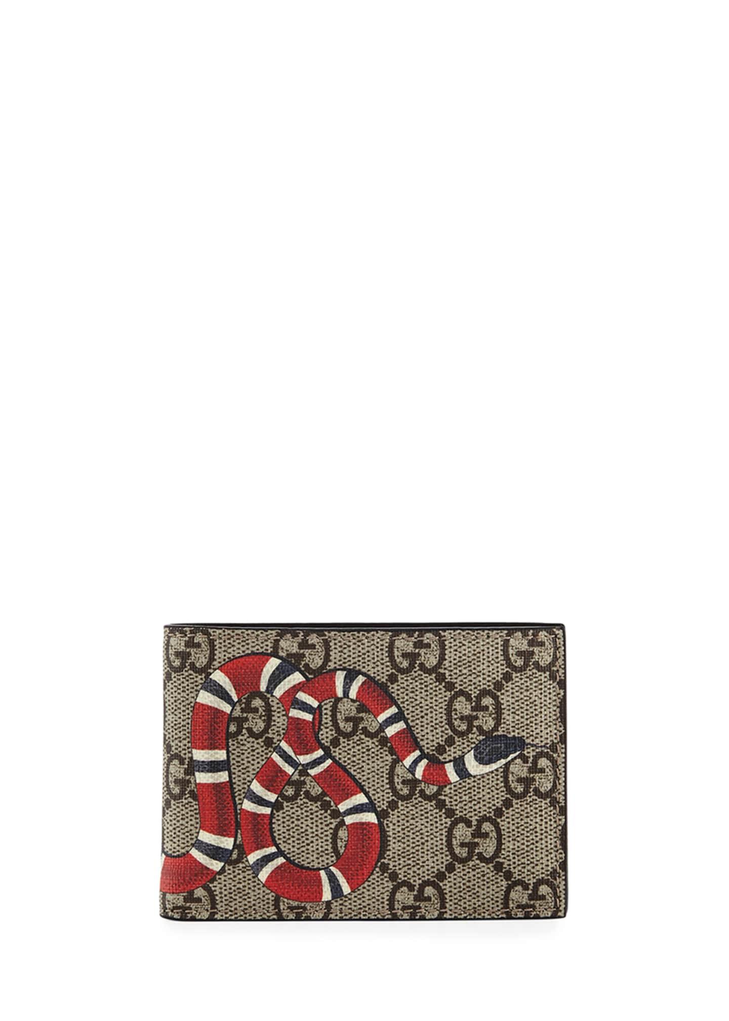 Gucci Bestiary Snake-Print GG Supreme Wallet
