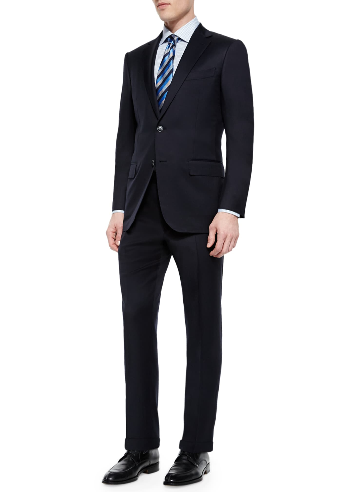 Image 2 of 3: Solid Two-Piece Solid Wool Suit