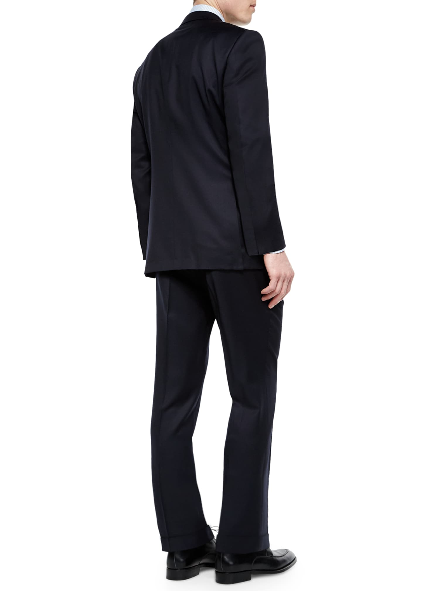 Image 3 of 3: Solid Two-Piece Solid Wool Suit