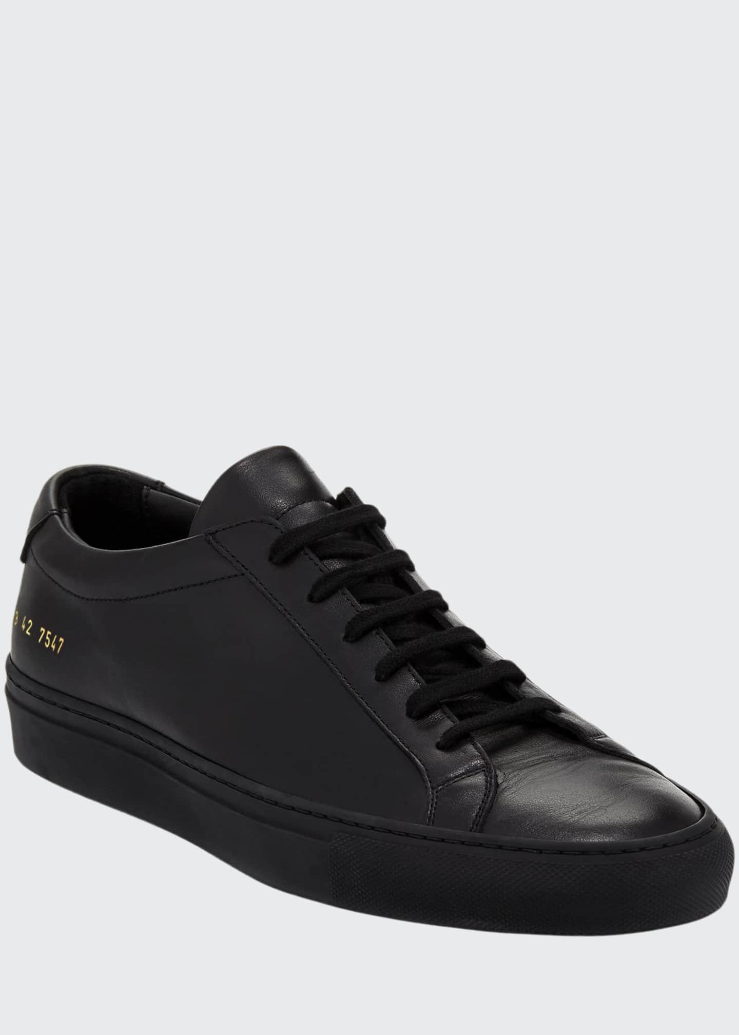 Common Projects Men's Achilles Low-Top Sneakers, Black