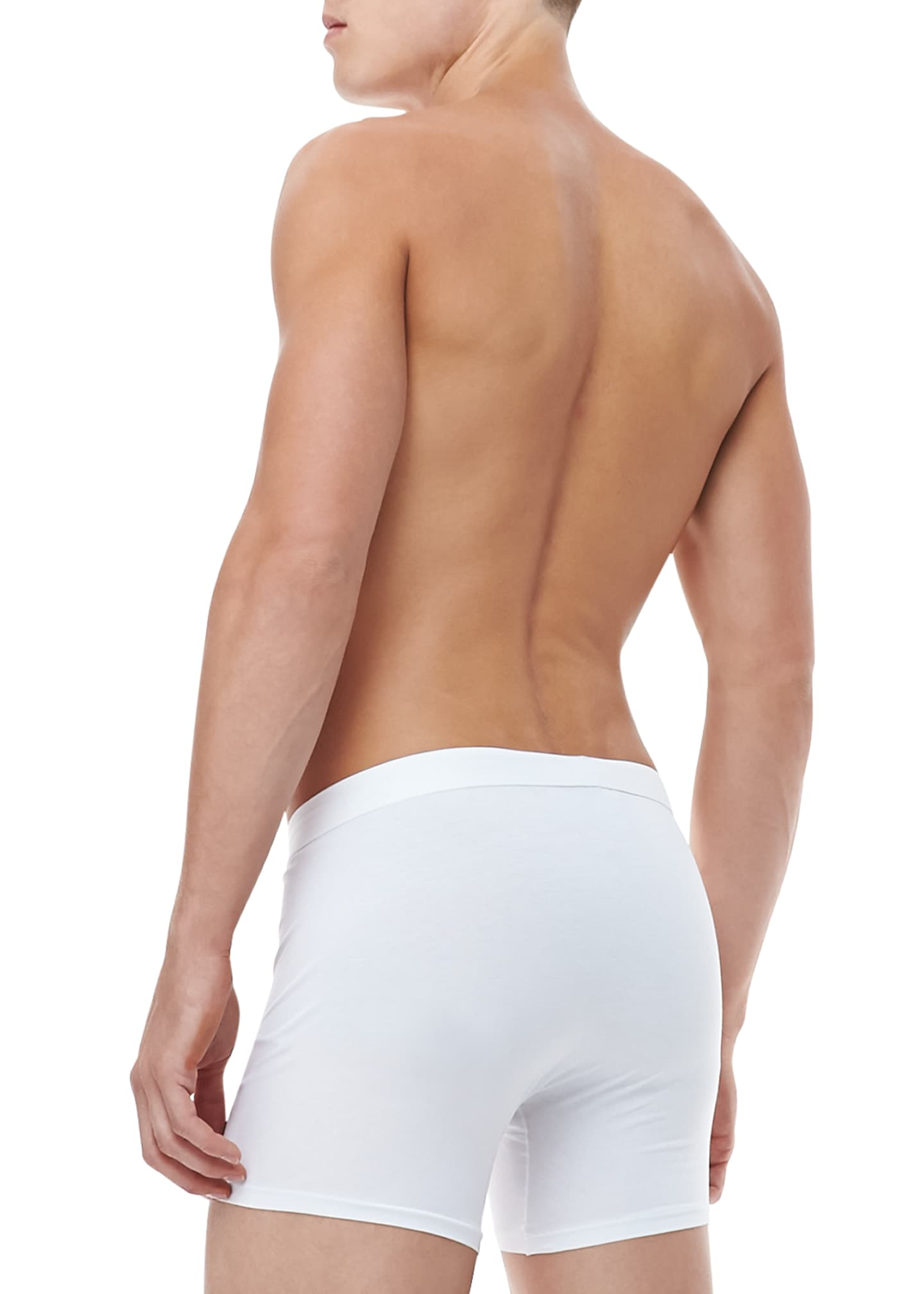 Image 2 of 2: Jack Pima Cotton Stretch Trunks, White