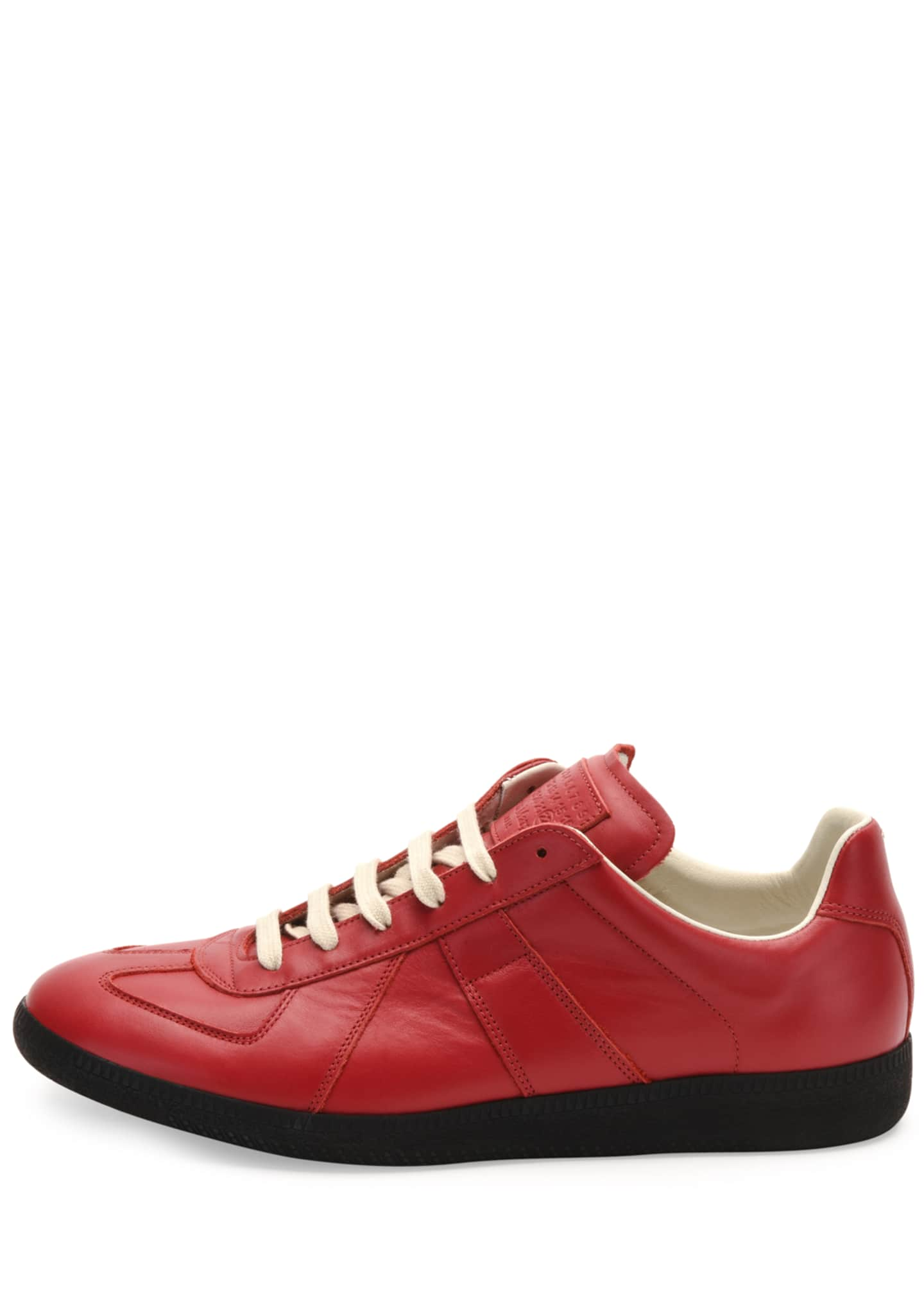 Image 2 of 3: Replica Leather Low-Top Sneaker, Red/Black