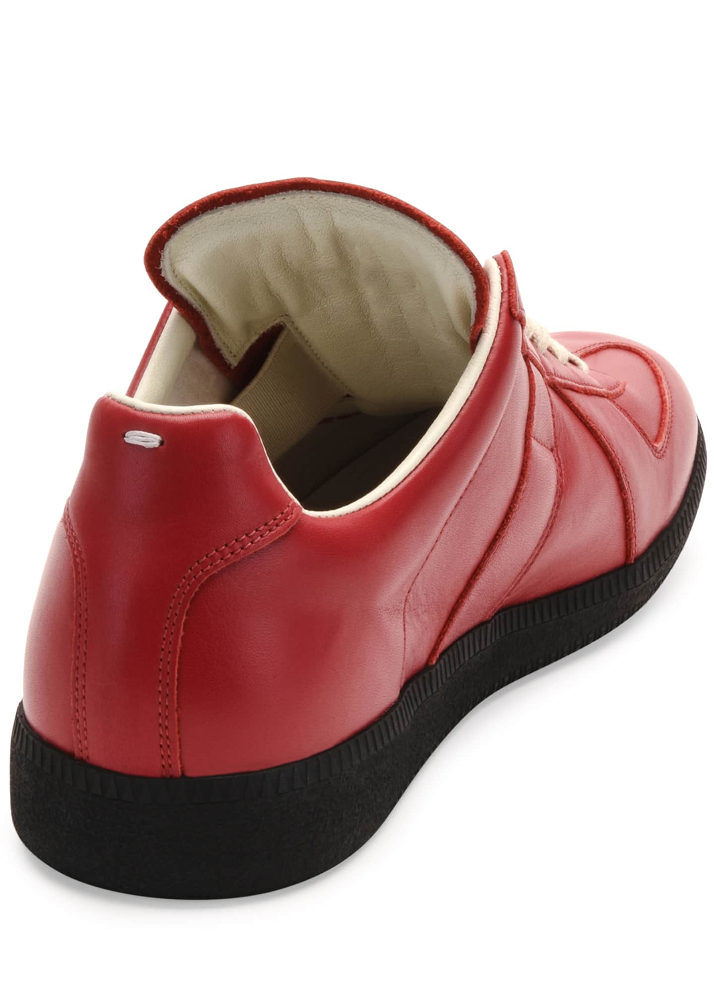 Image 3 of 3: Replica Leather Low-Top Sneaker, Red/Black