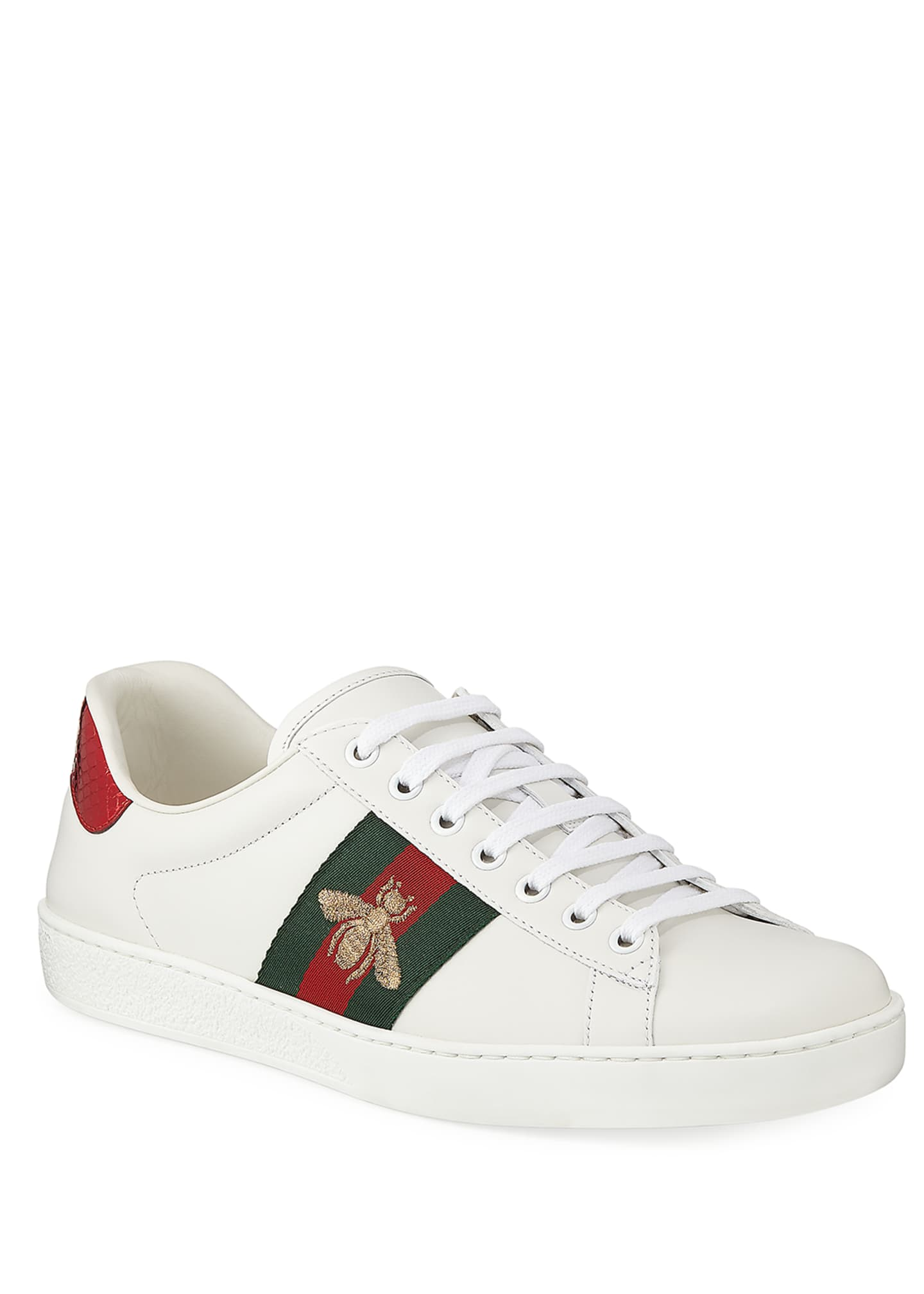 Image 1 of 4: Men's New Ace Embroidered Low-Top Sneakers