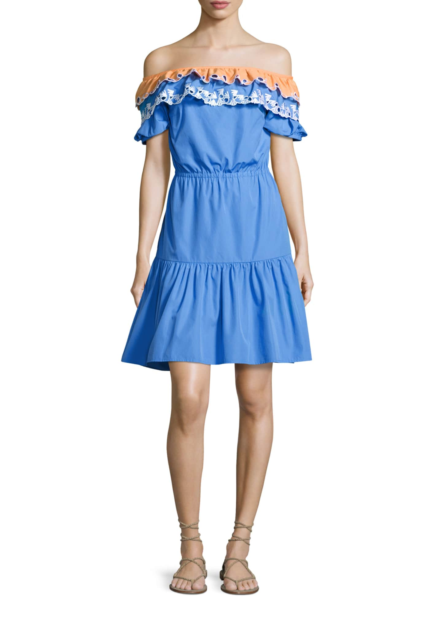 Peter Pilotto Embroidered Off-Shoulder Dress