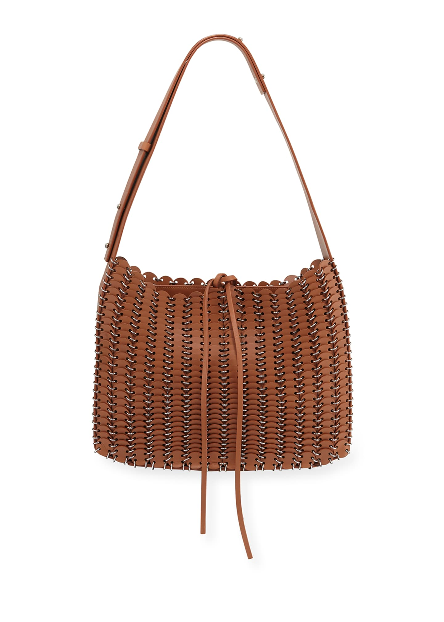 Paco Rabanne 14#01 Grommetted Leather Hobo Bag