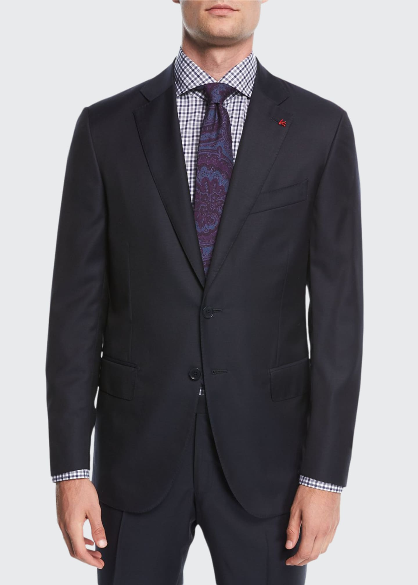 Image 1 of 4: Solid Wool Two-Piece Suit