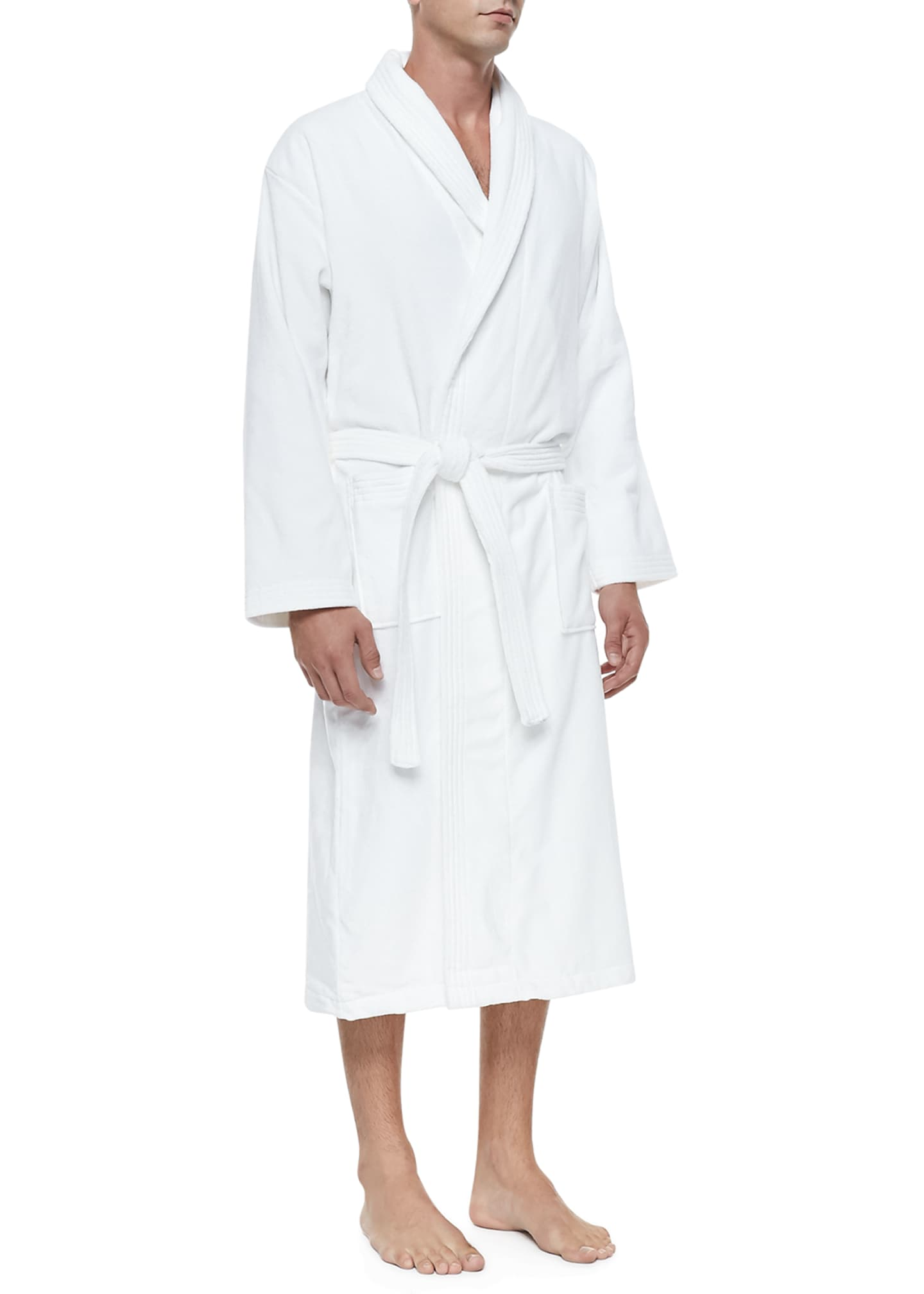 Image 1 of 2: Terry Cloth Robe, White