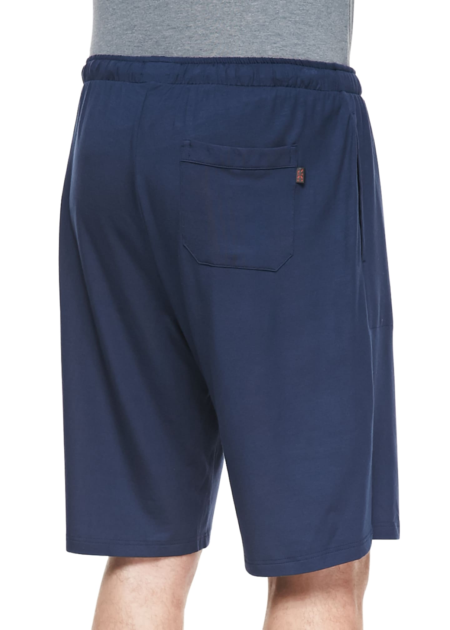 Image 2 of 2: Basel Jersey Lounge Shorts, Navy