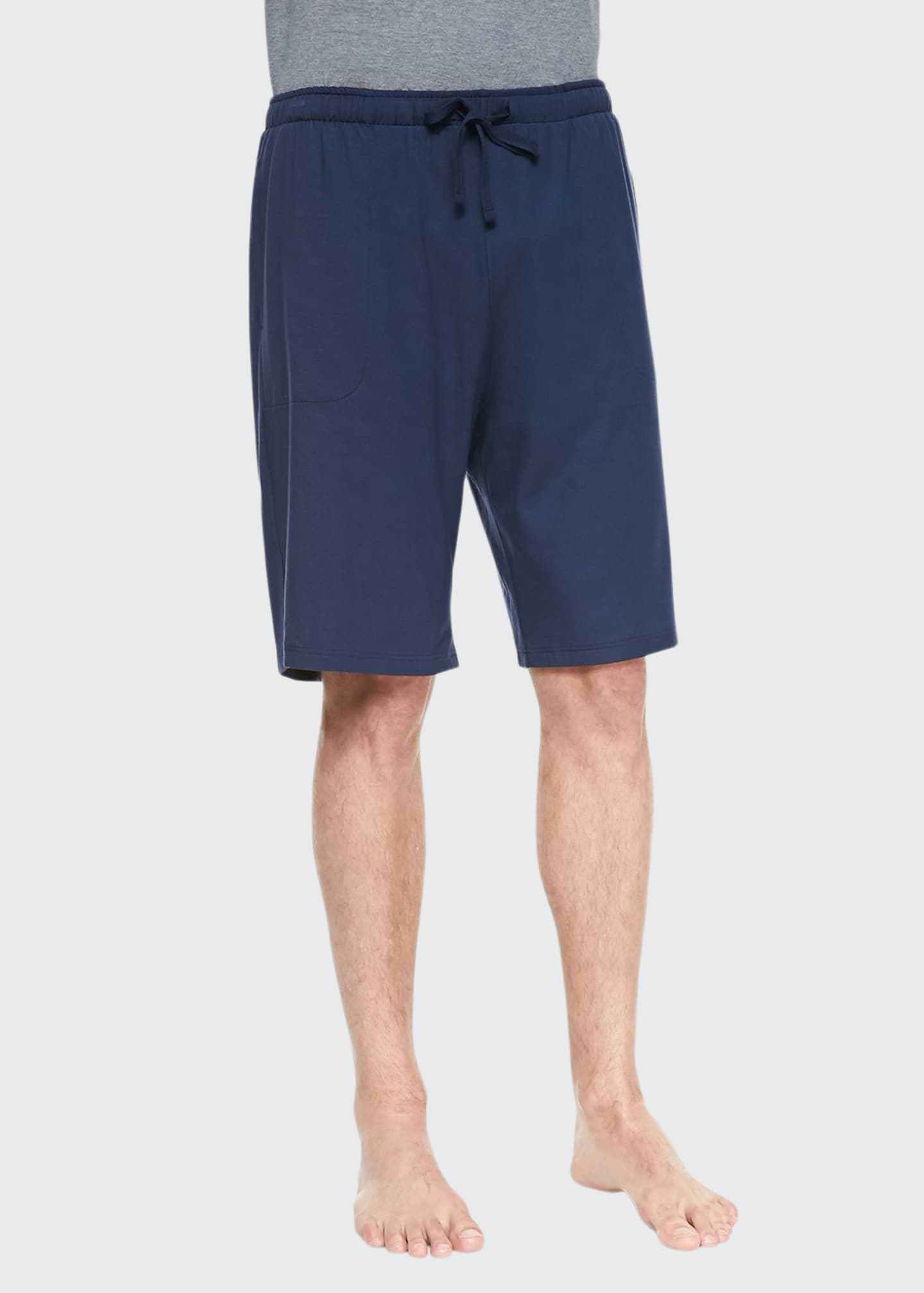 Image 1 of 2: Basel Jersey Lounge Shorts, Navy