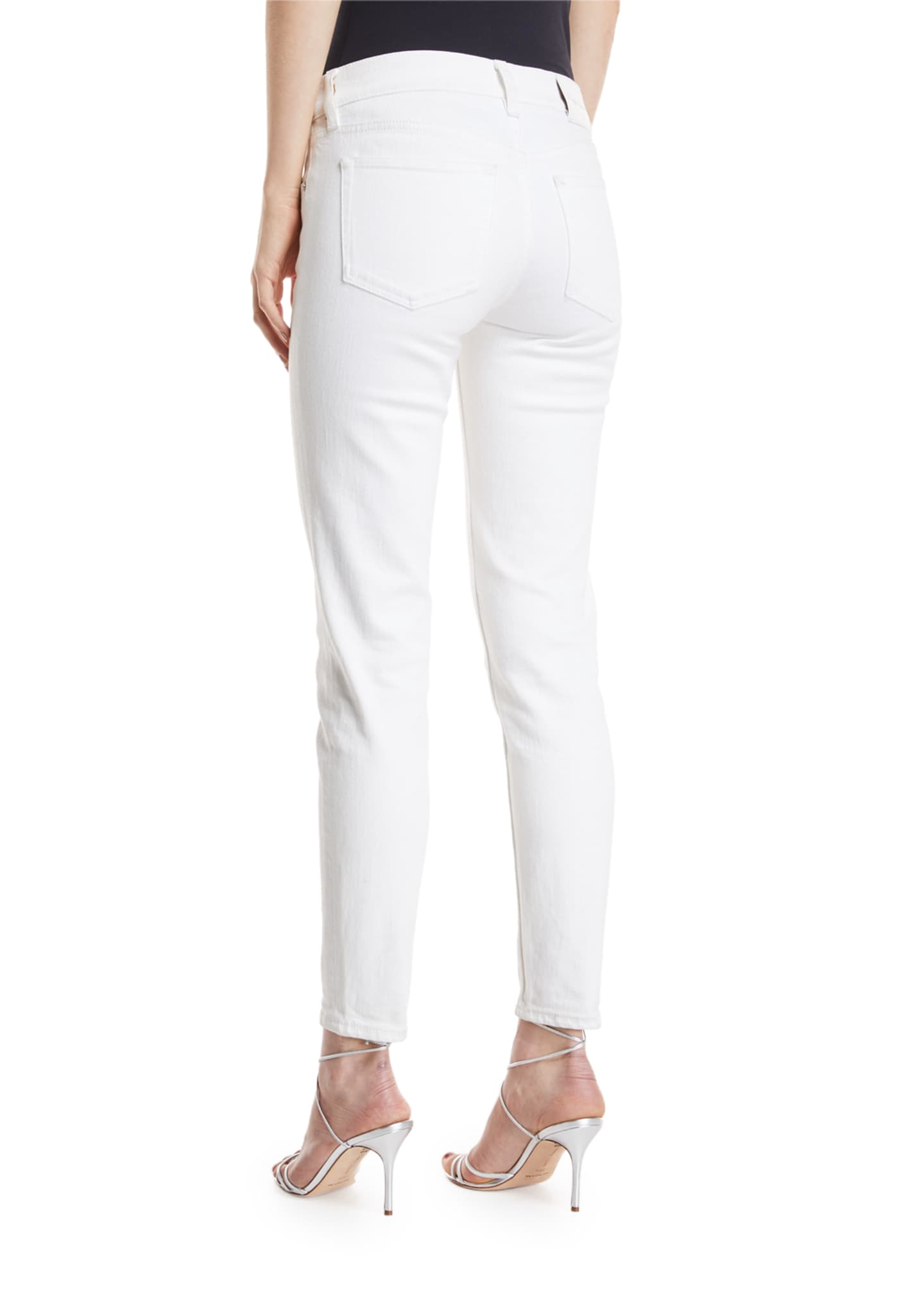 Image 2 of 4: 400 Matchstick Ankle Jeans, White