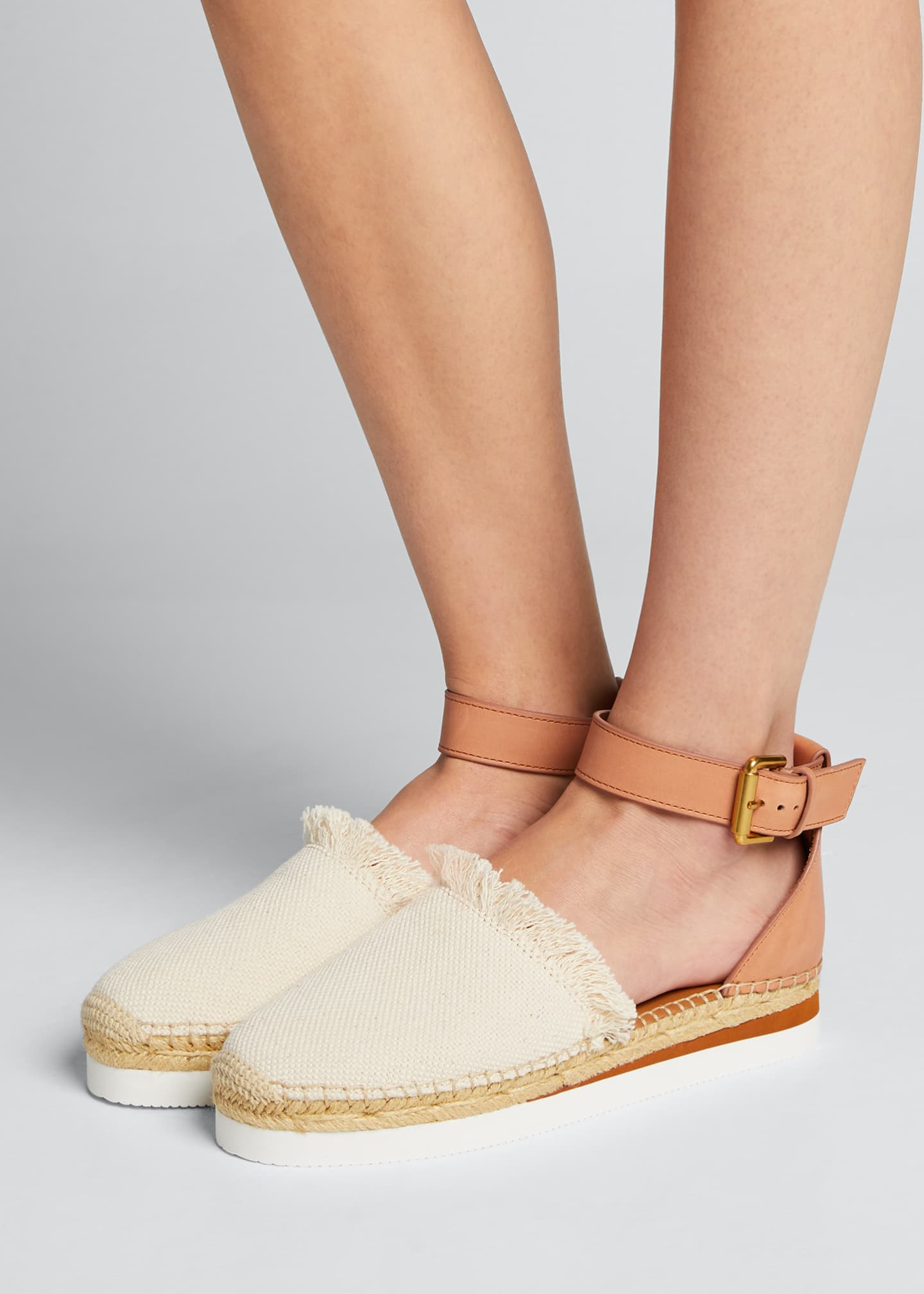 Image 2 of 5: Glyn Canvas & Leather Espadrille