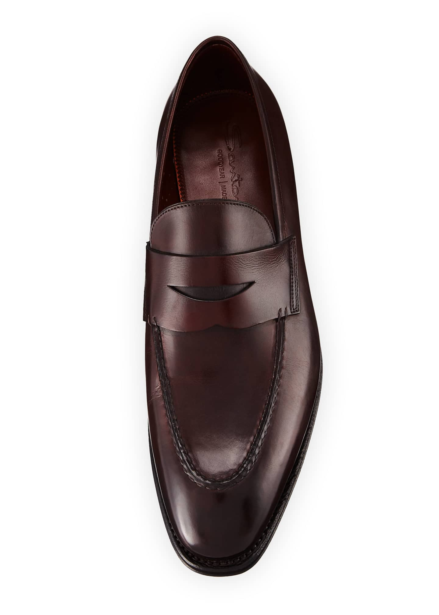 Image 2 of 3: Duke Leather Penny Loafer