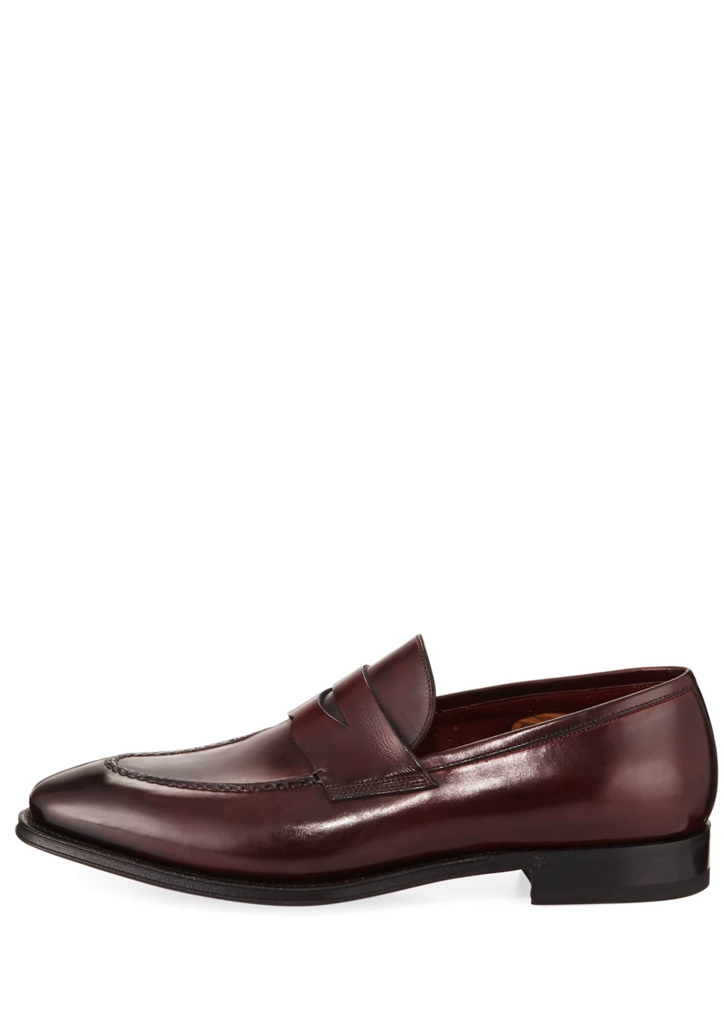 Image 3 of 3: Duke Leather Penny Loafer
