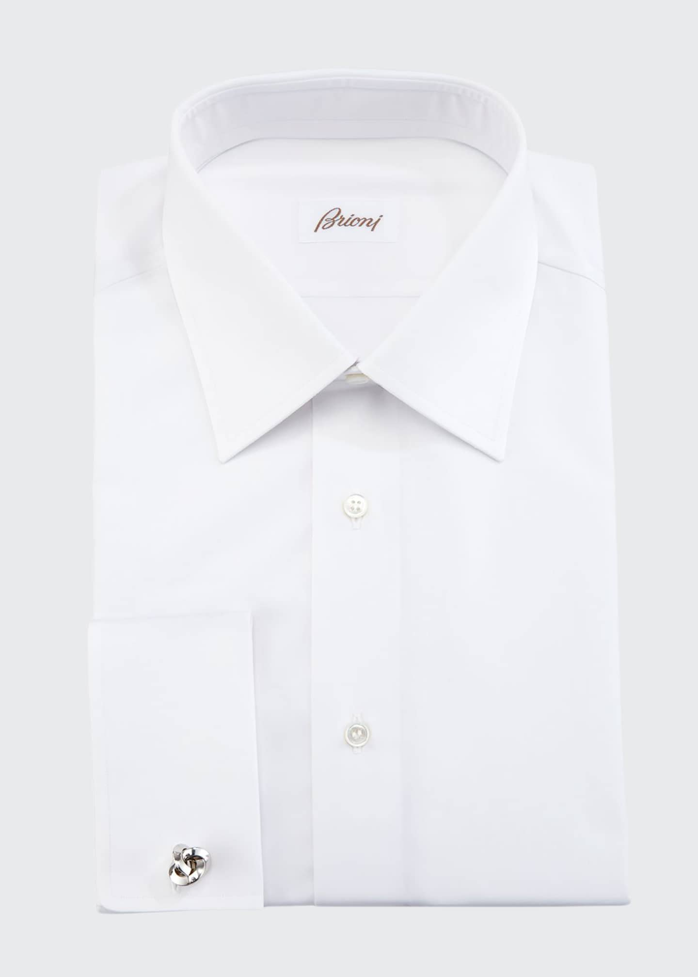 Brioni Wardrobe Essential French-Cuff Dress Shirt