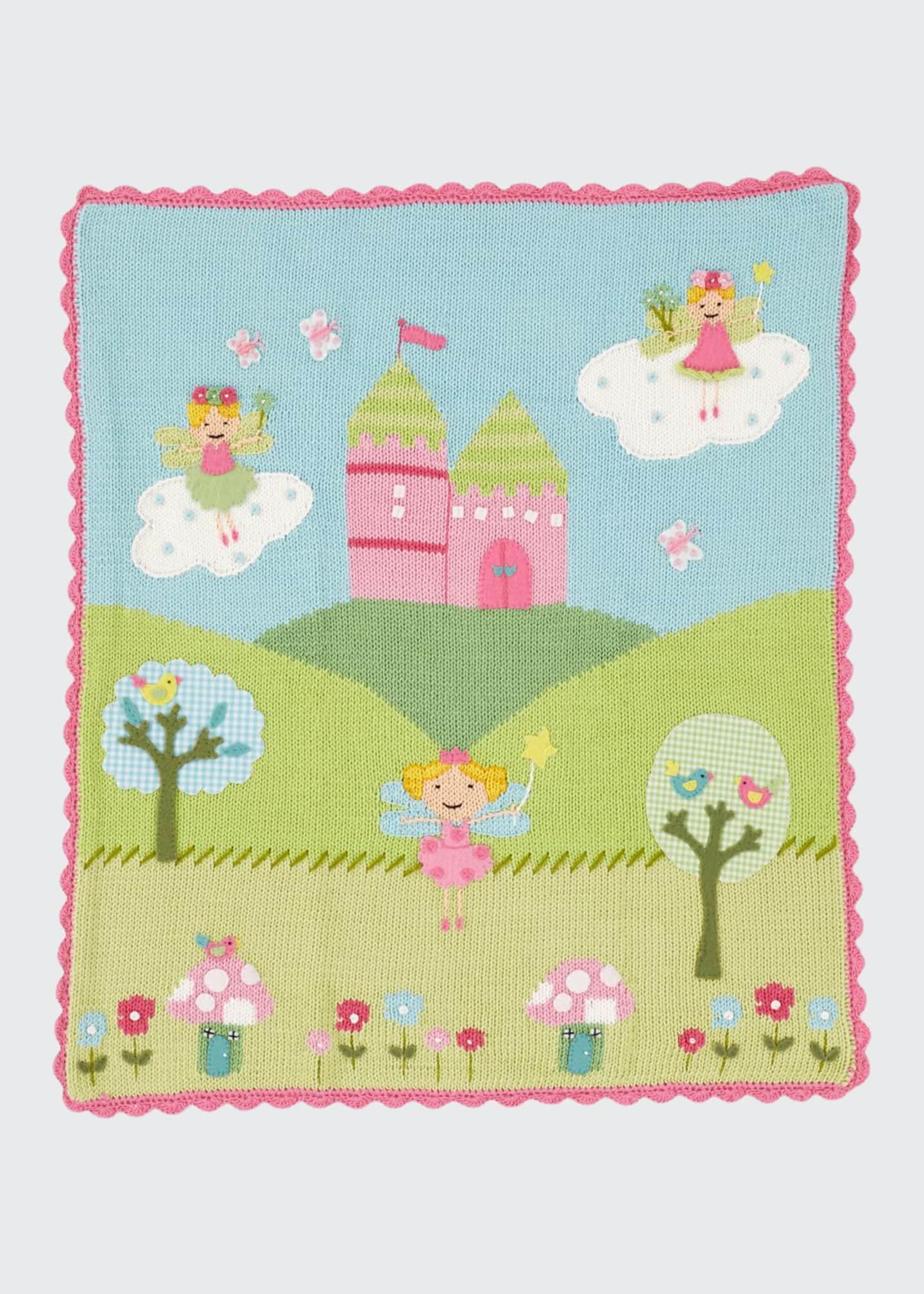 Art Walk Kids' Enchanted Castle Scalloped Blanket