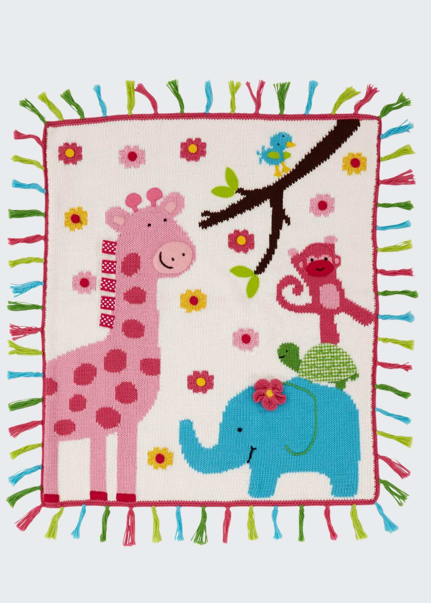 Art Walk Kids' Jungle Mania Tassel Blanket