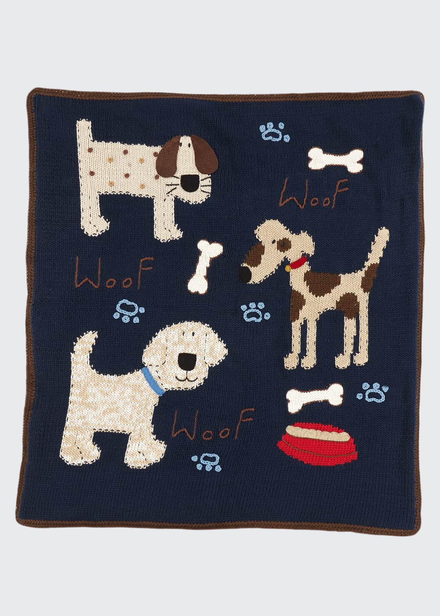 Art Walk Kid's Woof Woof Knit Blanket