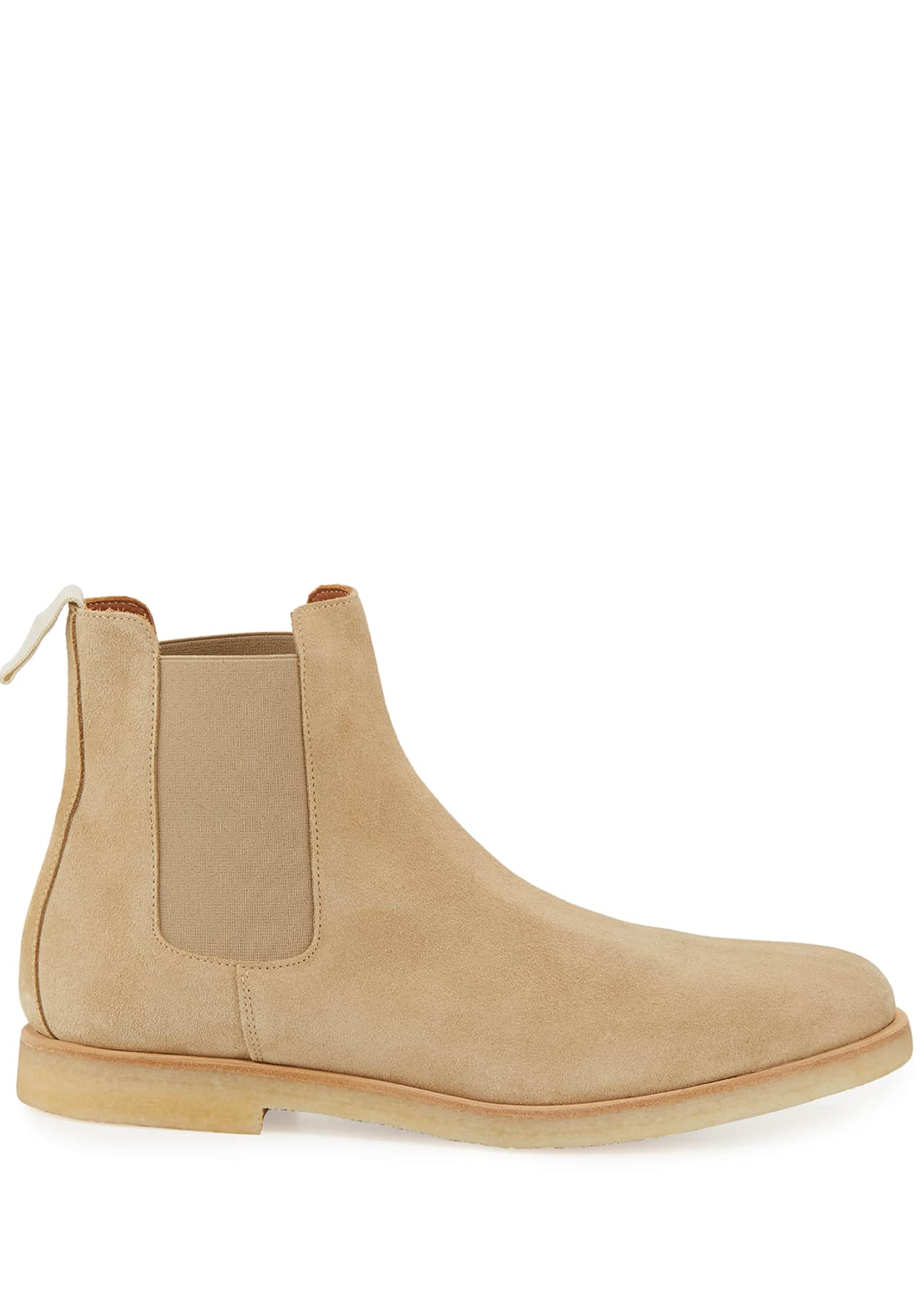 Image 2 of 3: Calf Suede Chelsea Boot, Tan