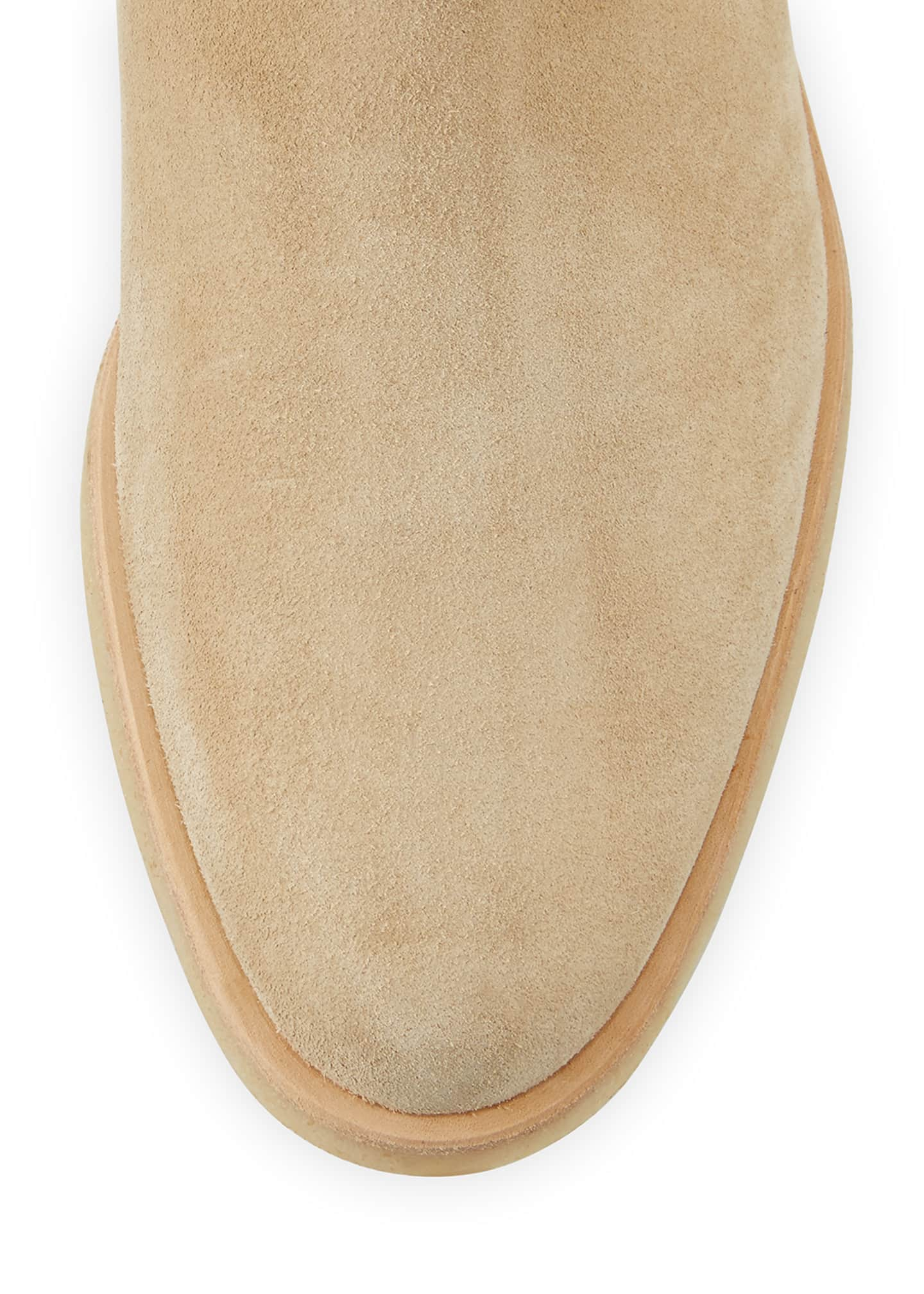 Image 3 of 3: Calf Suede Chelsea Boot, Tan