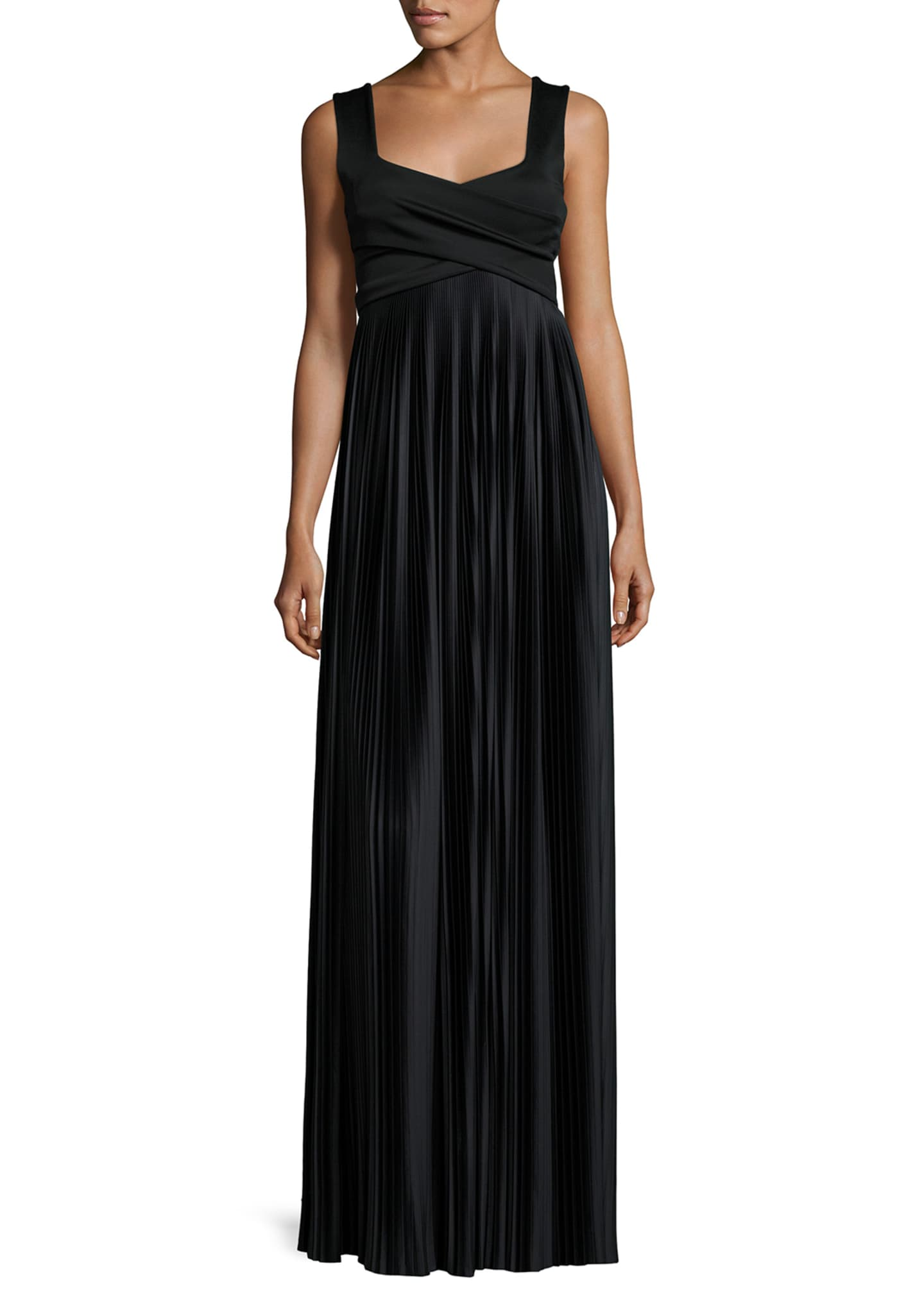 THE ROW Alain Pleated Sleeveless Gown, Black