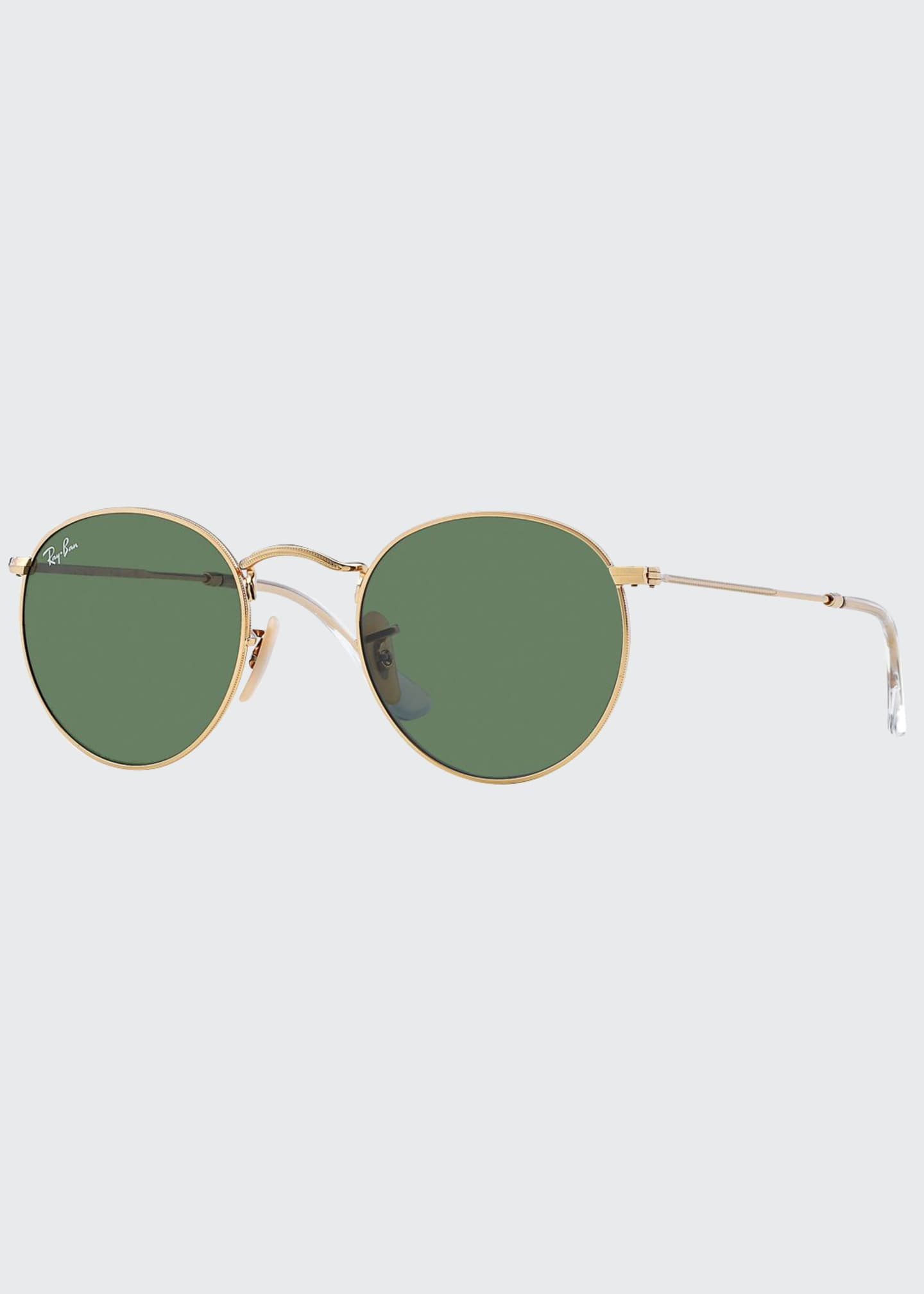 Ray-Ban Men's Round Metal Sunglasses, Green