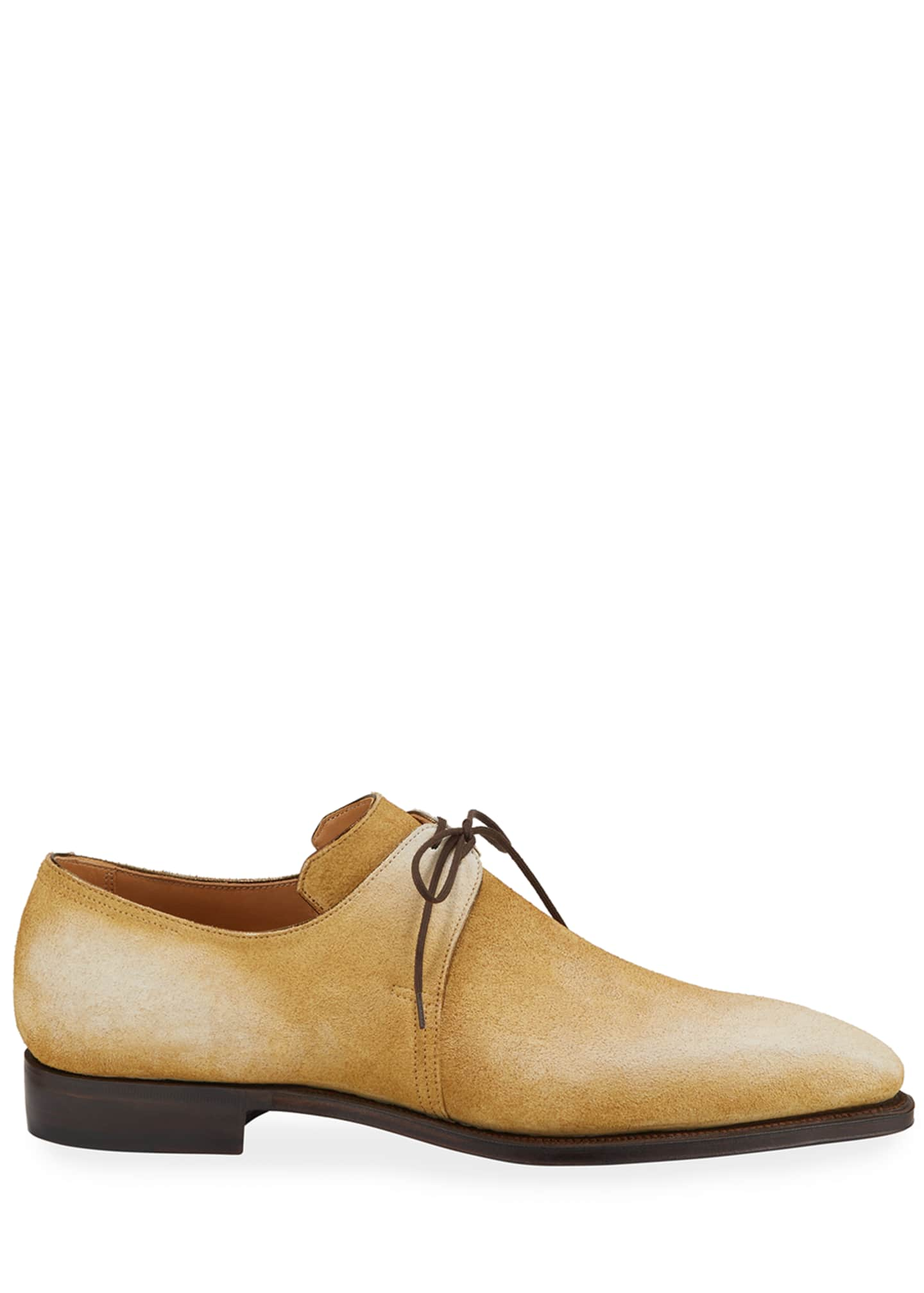Image 3 of 3: Men's Arca Pullman Suede Lace-Up Shoes
