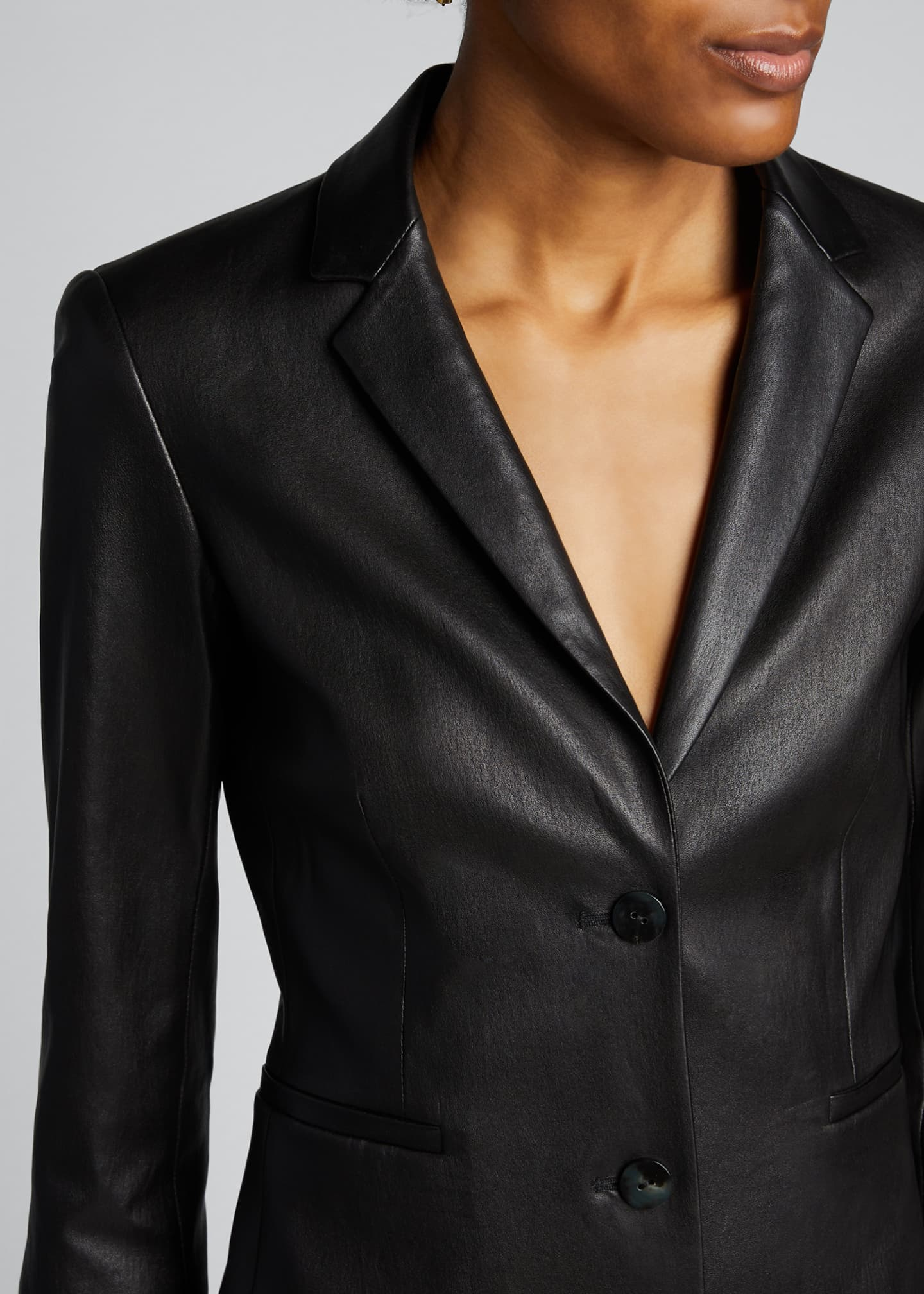 Image 4 of 5: Nolbon Leather Jacket