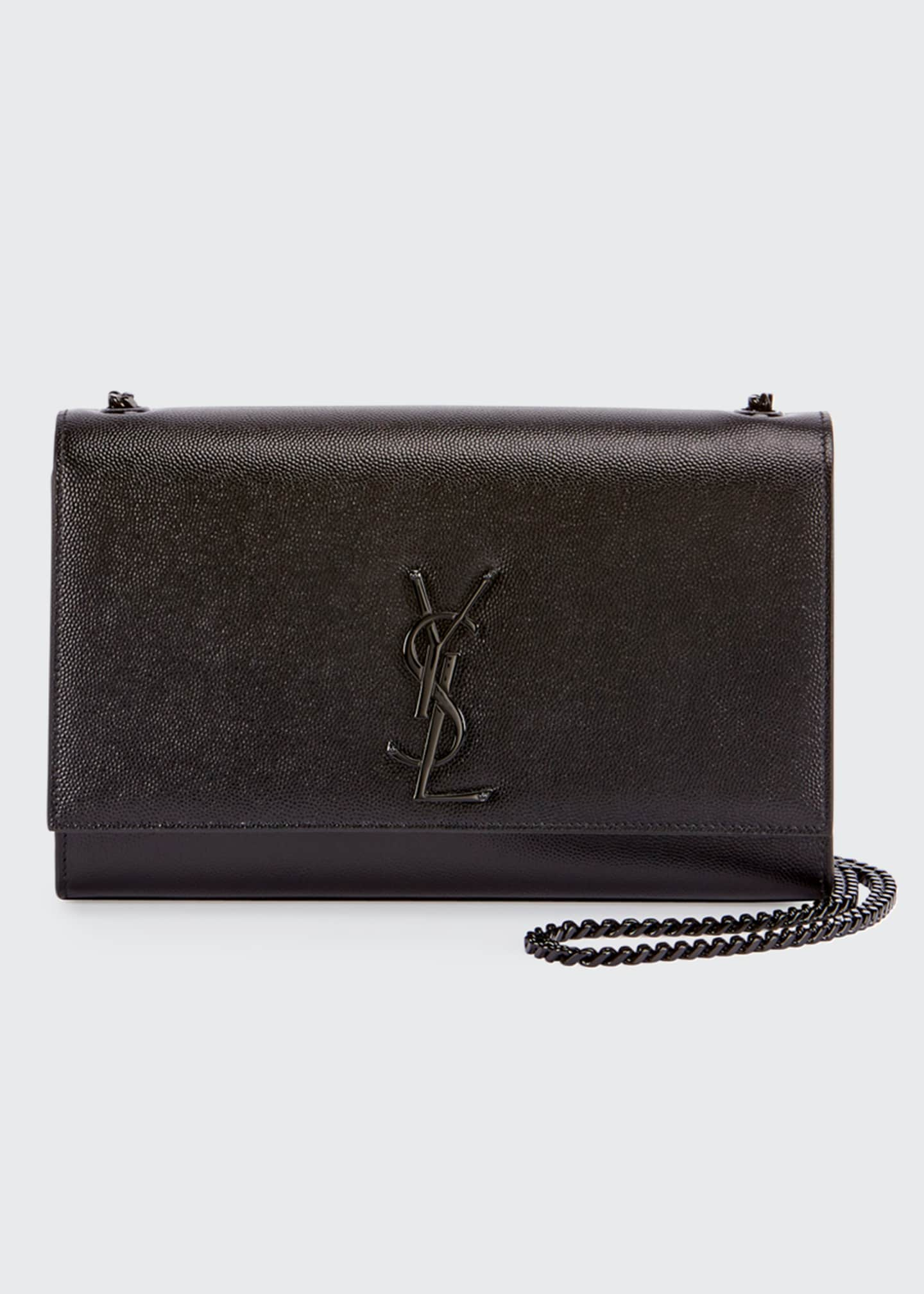 Saint Laurent Kate Medium Grain de Poudre Chain