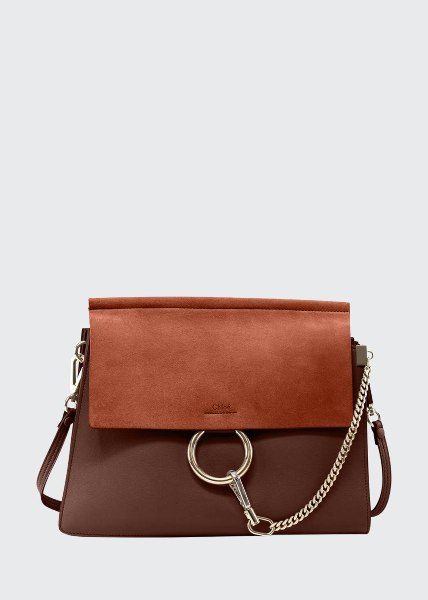 Chloe Faye Medium Flap Shoulder Bag, Tobacco