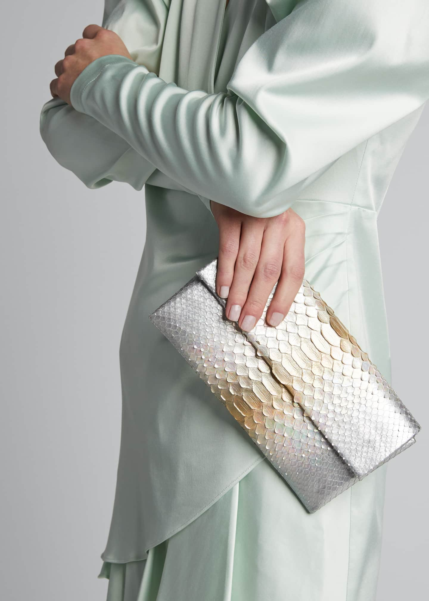 Image 2 of 5: Gotham Python Clutch Bag