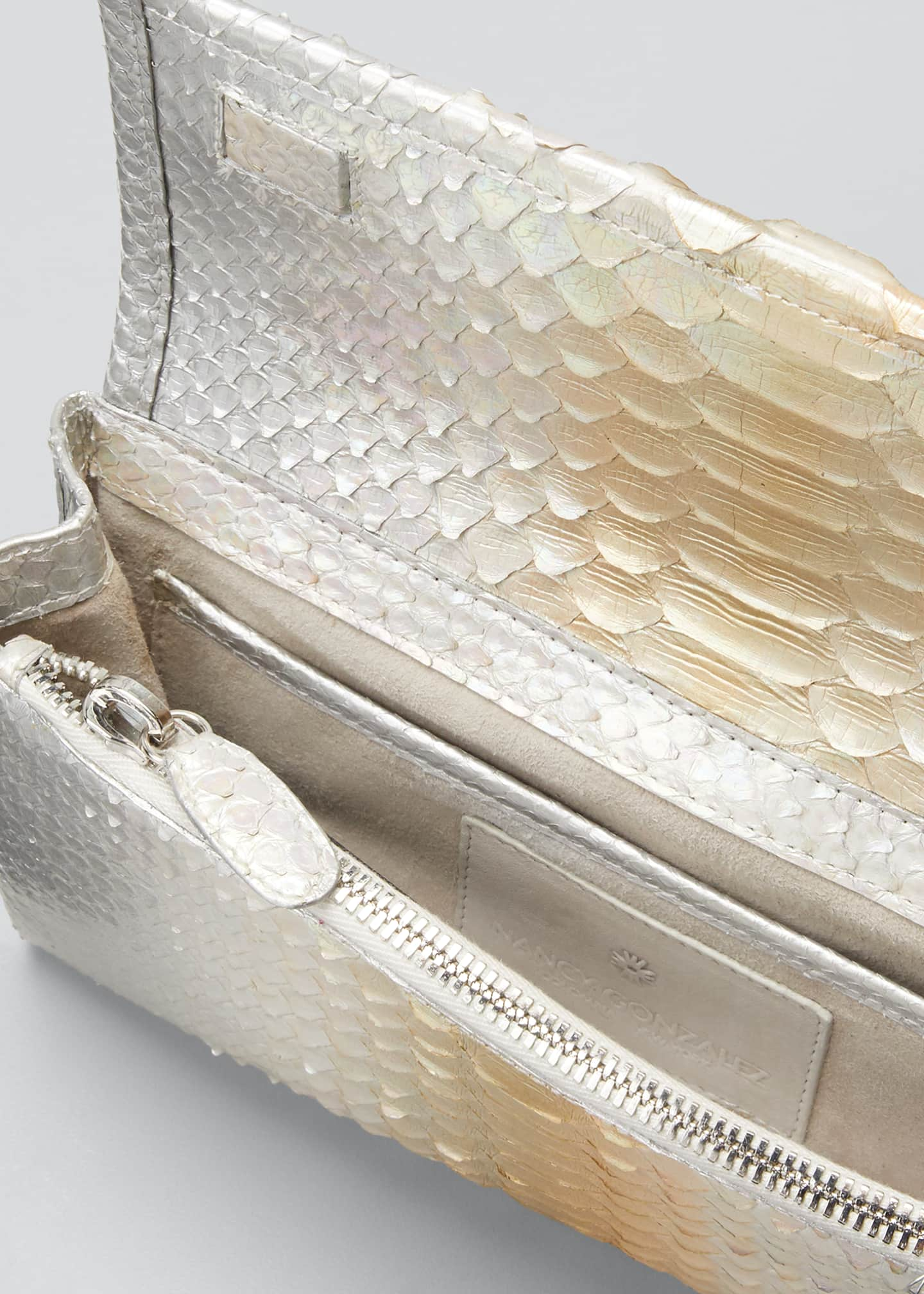 Image 4 of 5: Gotham Python Clutch Bag