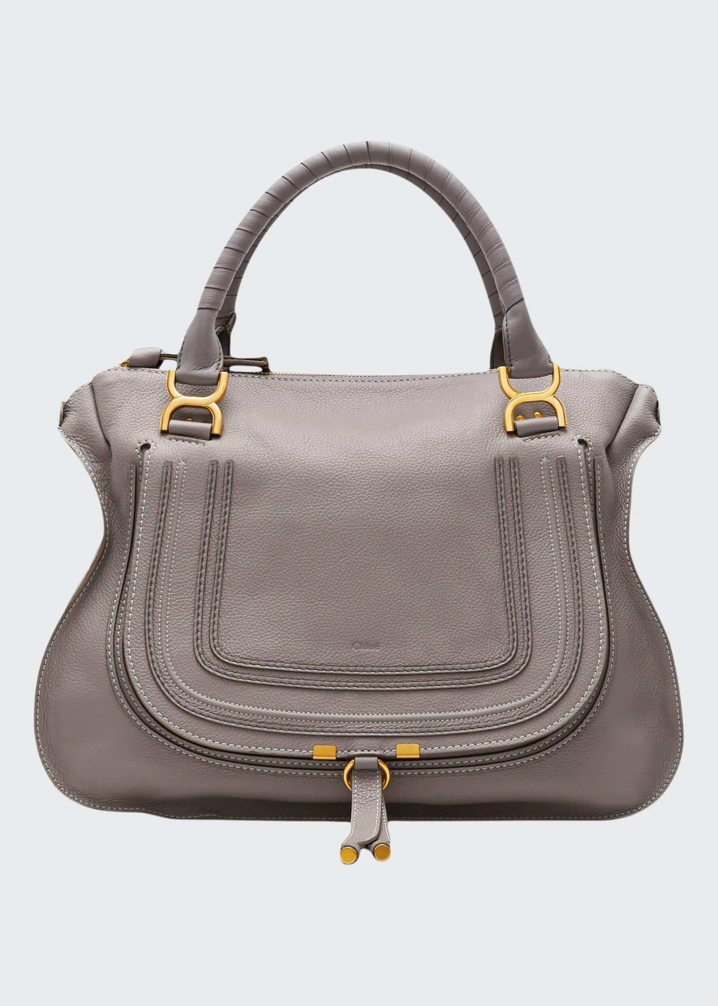 Chloe Marcie Large Leather Satchel Bag