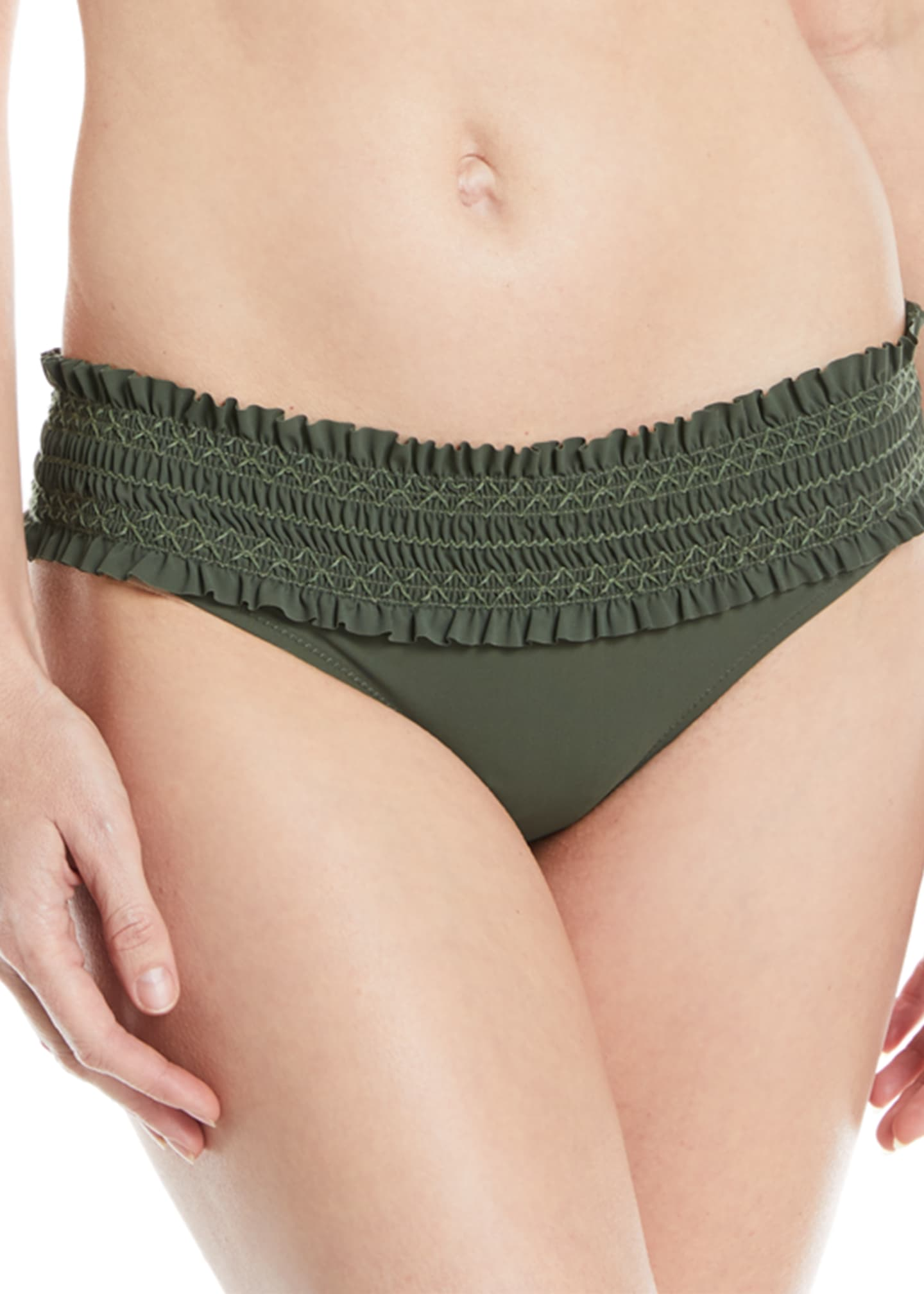 Image 1 of 2: Costa Embroidered Hipster Bikini Bottom