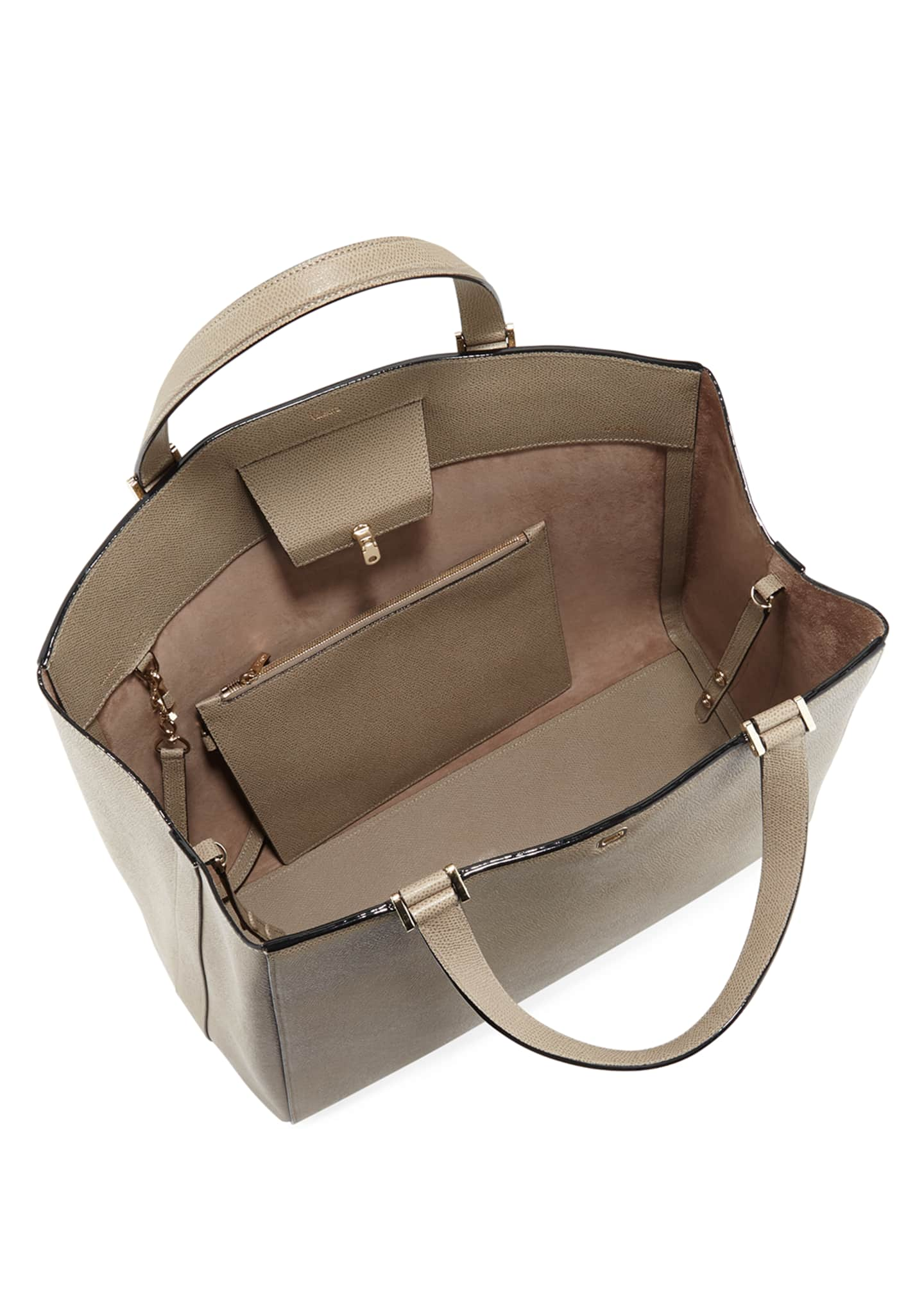Image 2 of 3: Brera Large Leather Top-Handle Tote Bag