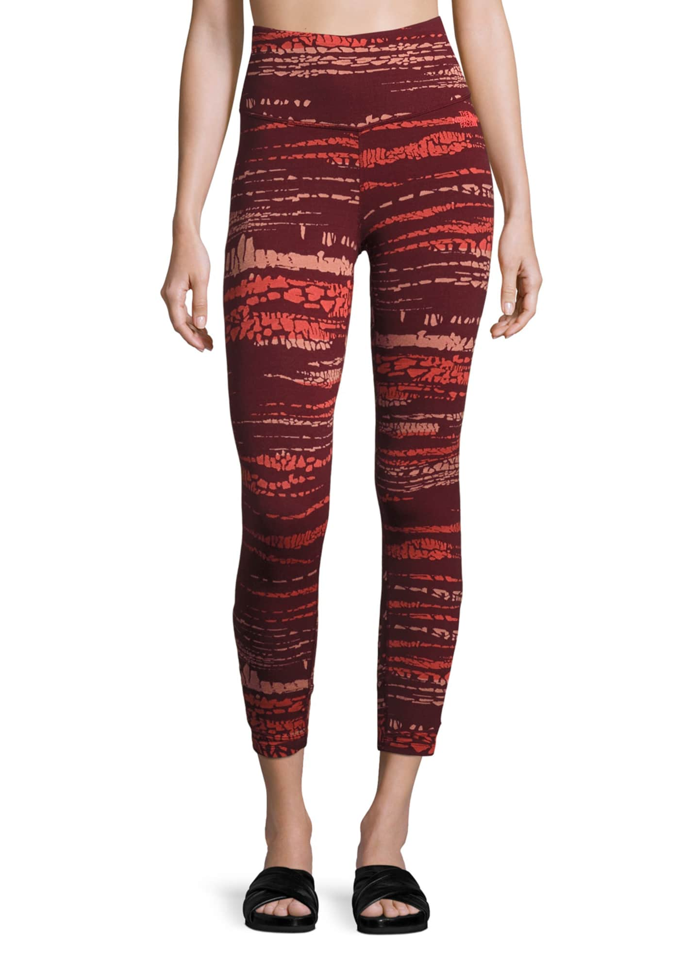 The North Face Motivation Strappy Printed Leggings, Red