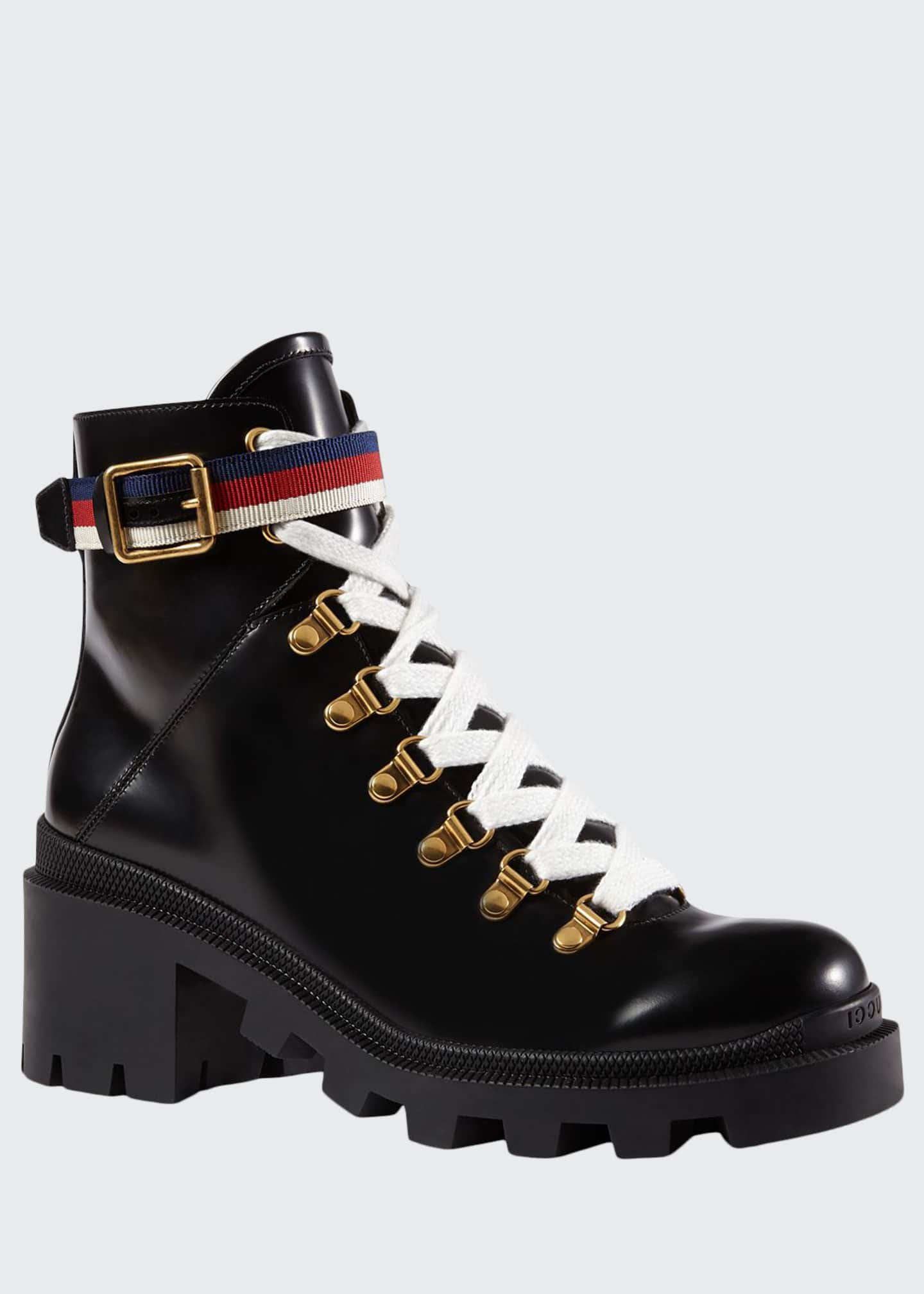 Gucci Leather Combat Boot