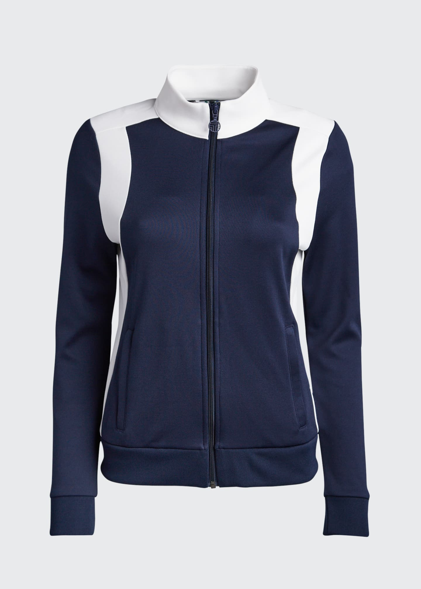 Image 5 of 5: Colorblock Track Jacket, Blue/White