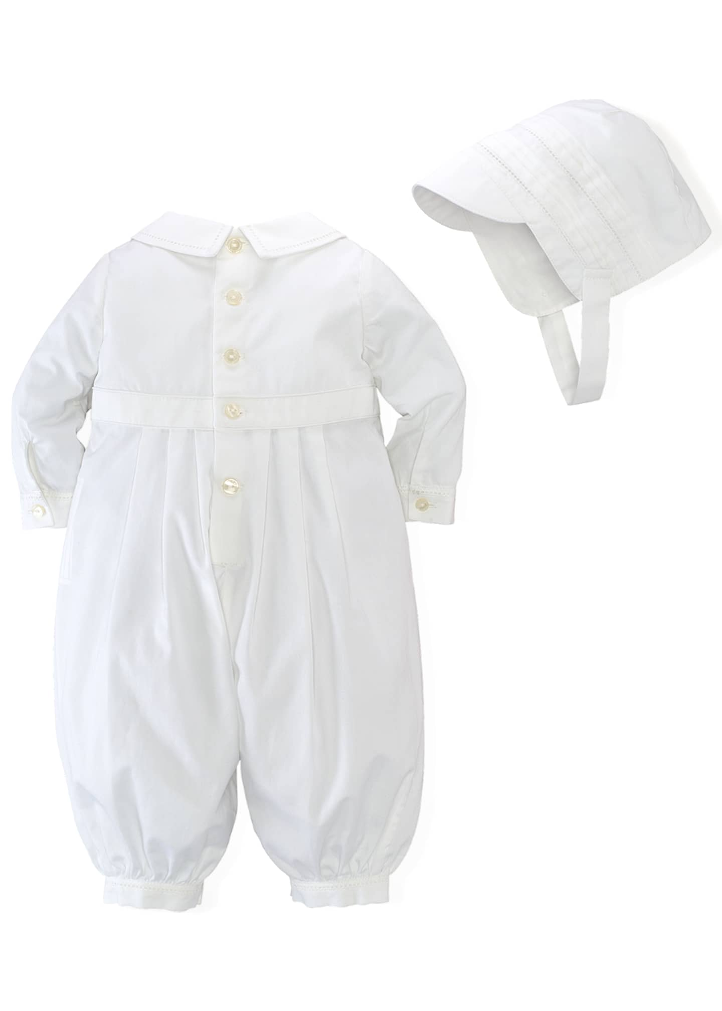 Image 2 of 2: Cotton Special Occasion Set, White, Size 3-9 Months