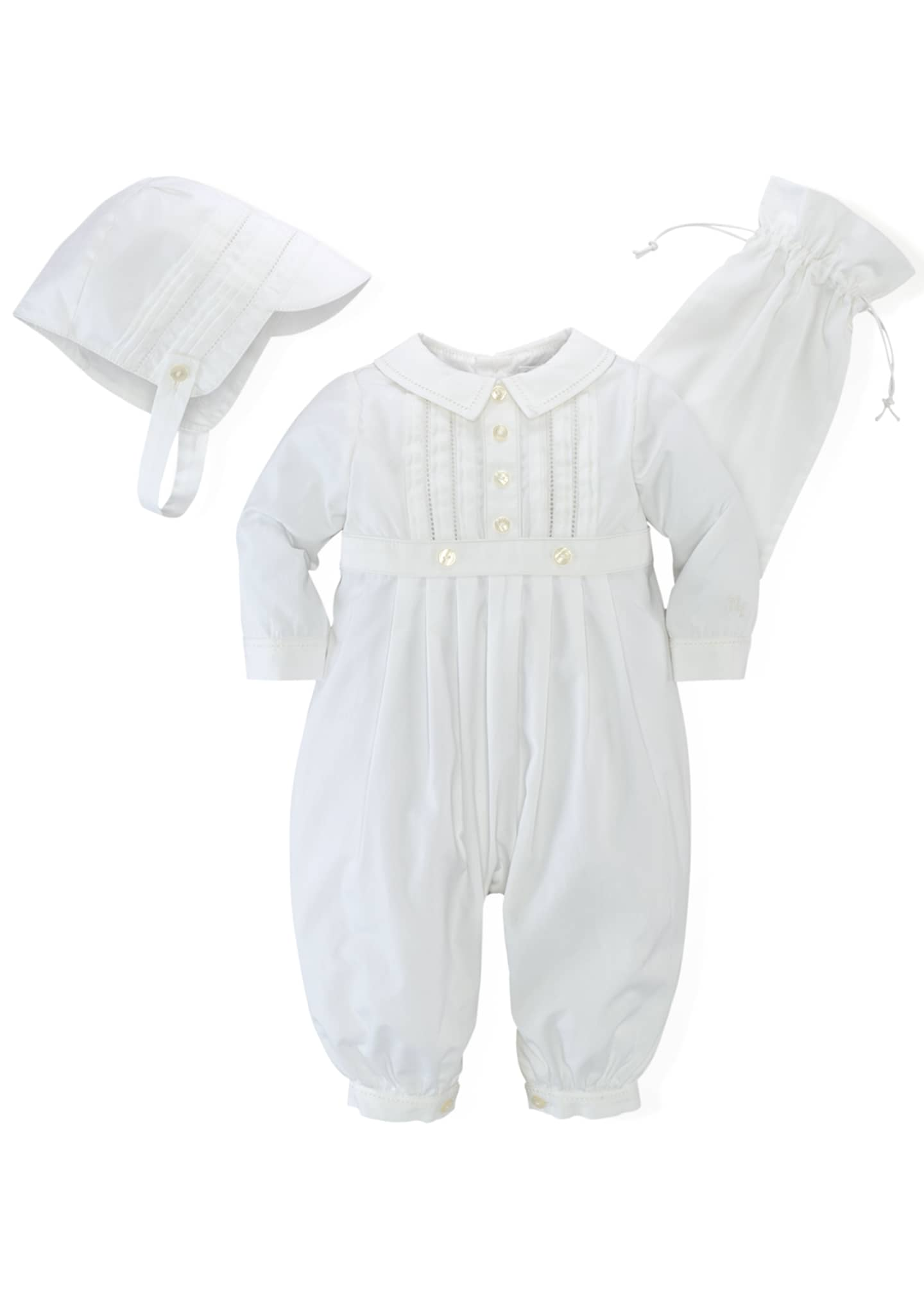 Image 1 of 2: Cotton Special Occasion Set, White, Size 3-9 Months