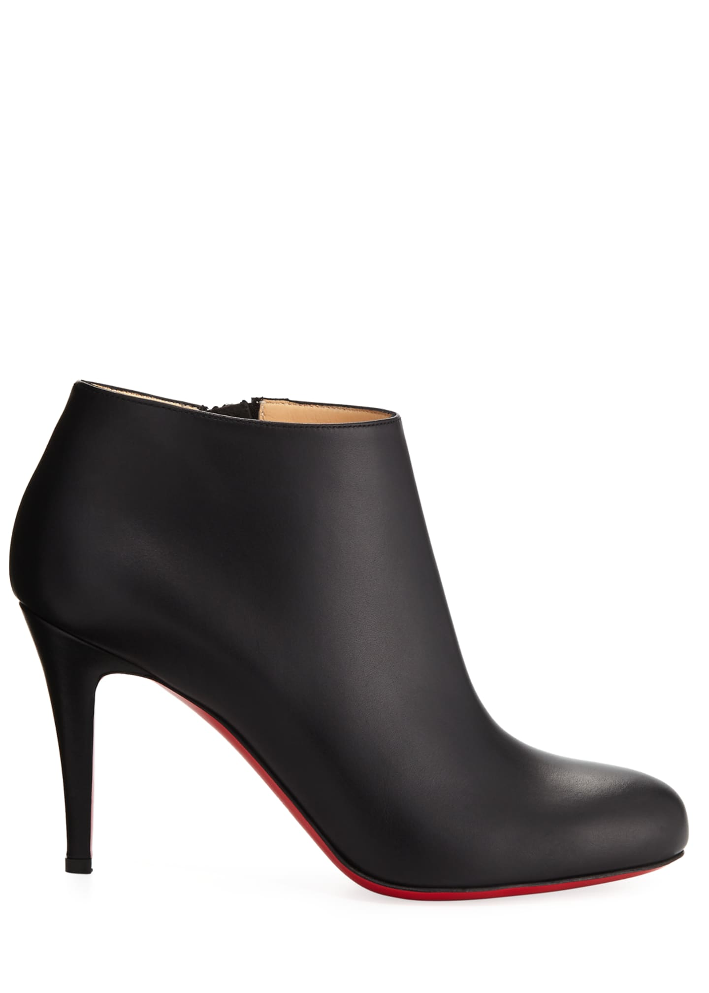 Image 2 of 5: Belle Leather Red-Sole Ankle Boots