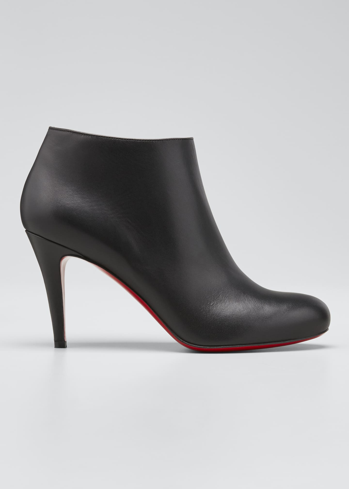 Image 1 of 5: Belle Leather Red-Sole Ankle Boots
