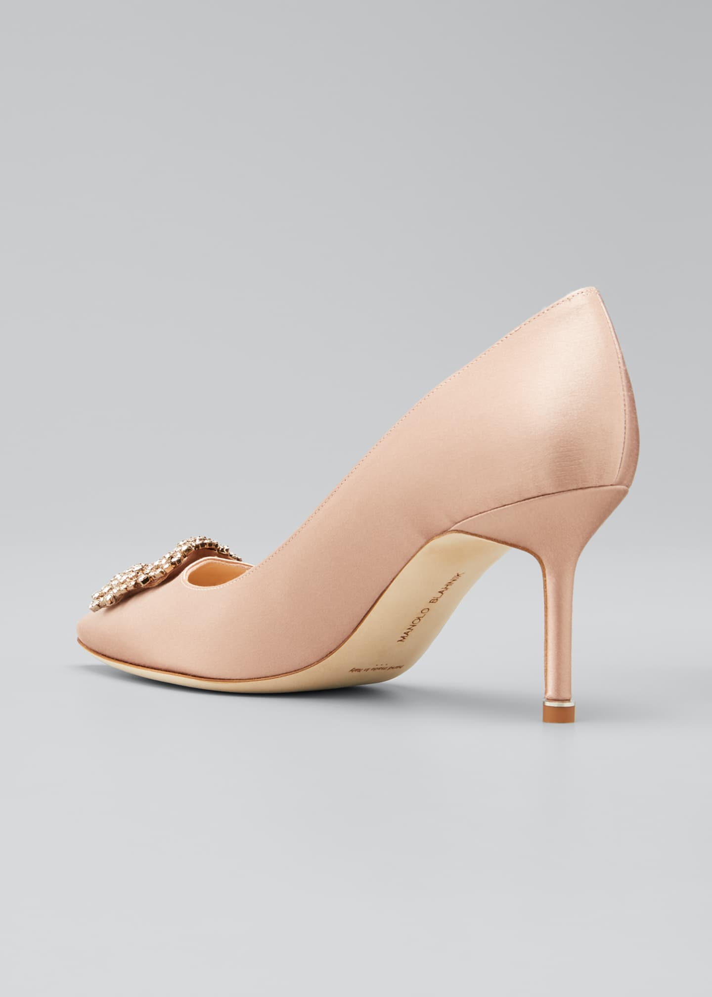 Image 4 of 5: Hangisi Satin 70mm Pump