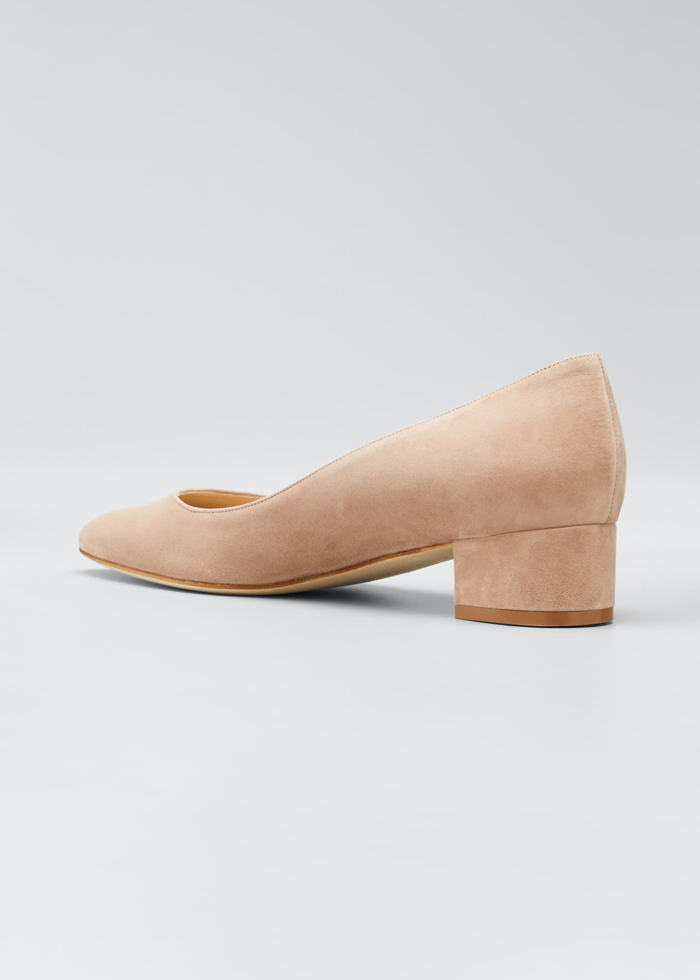 Image 4 of 5: Listony Suede Low-Heel Pumps