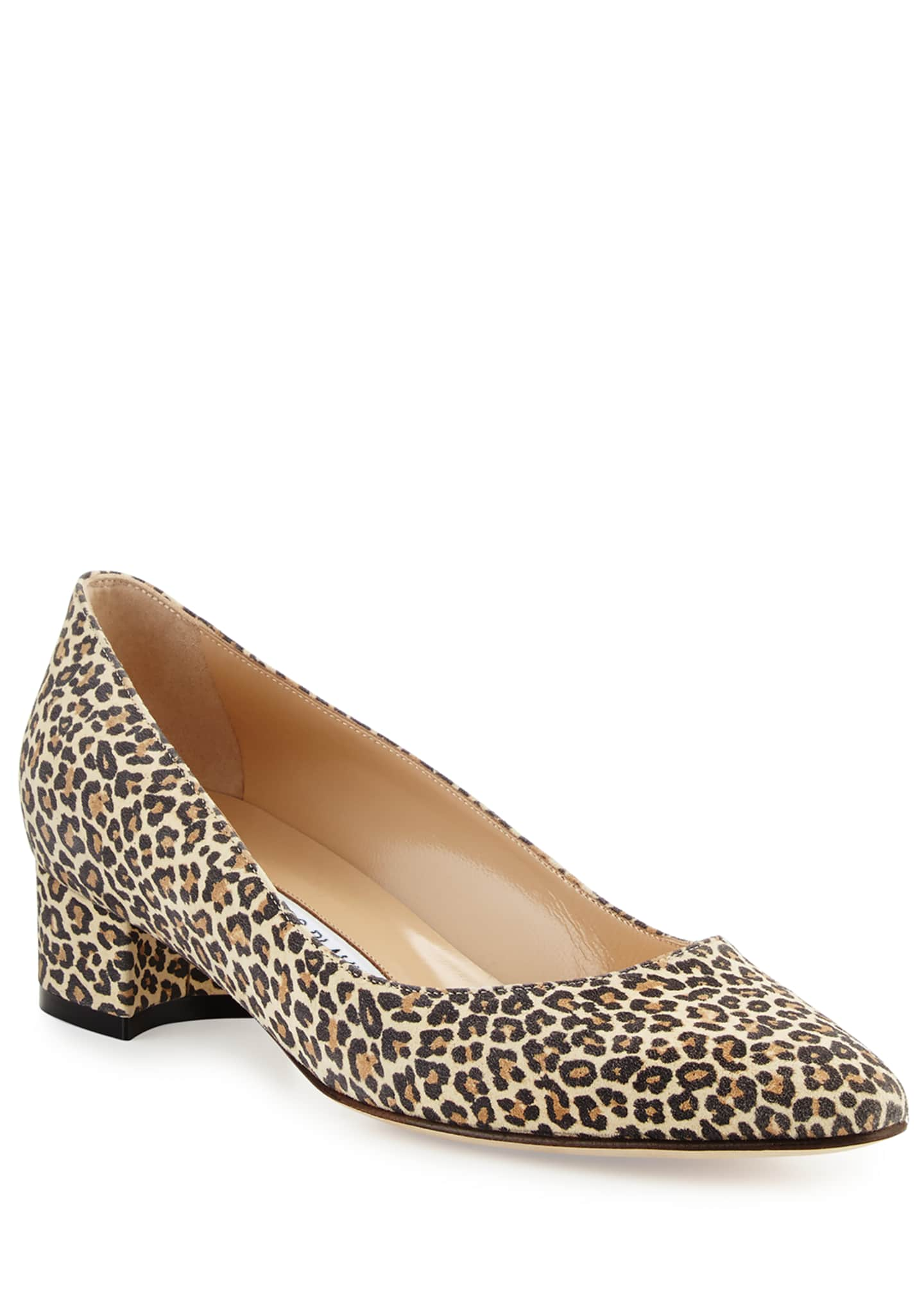 Image 1 of 5: Listony Suede Low-Heel Pumps