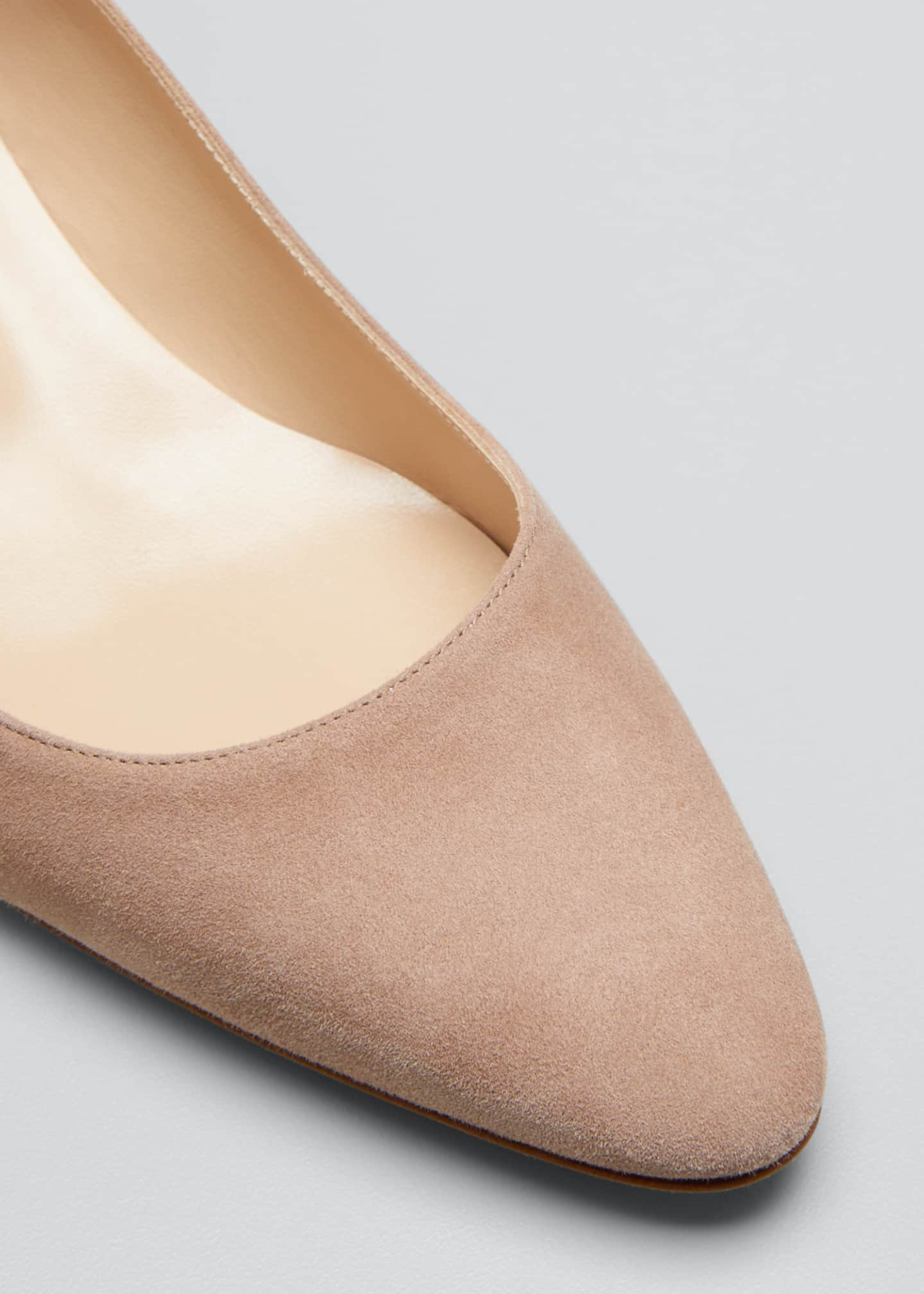 Image 5 of 5: Listony Suede Low-Heel Pumps